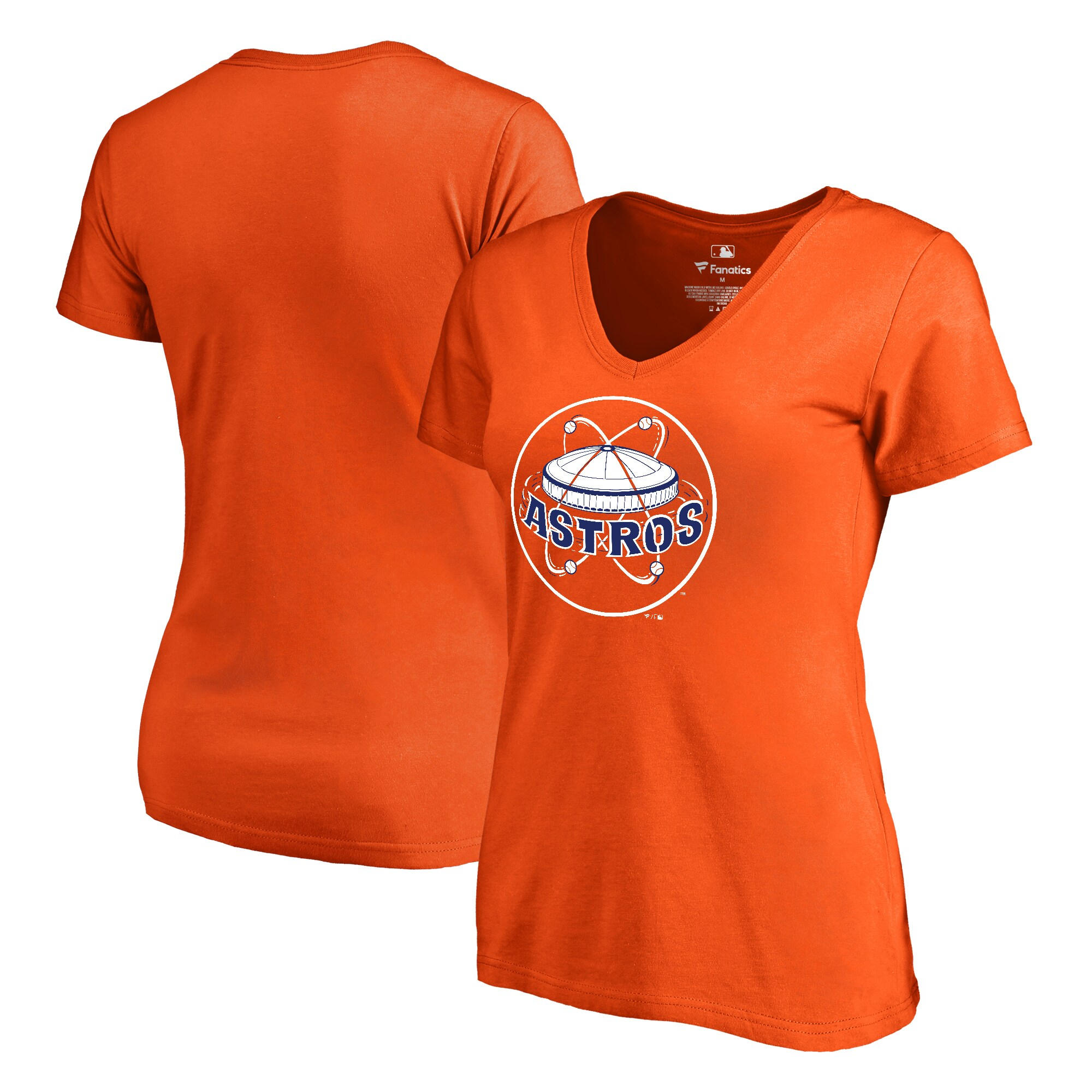Houston Astros Fanatics Branded Women's Cooperstown Collection Forbes V-Neck T-Shirt - Orange