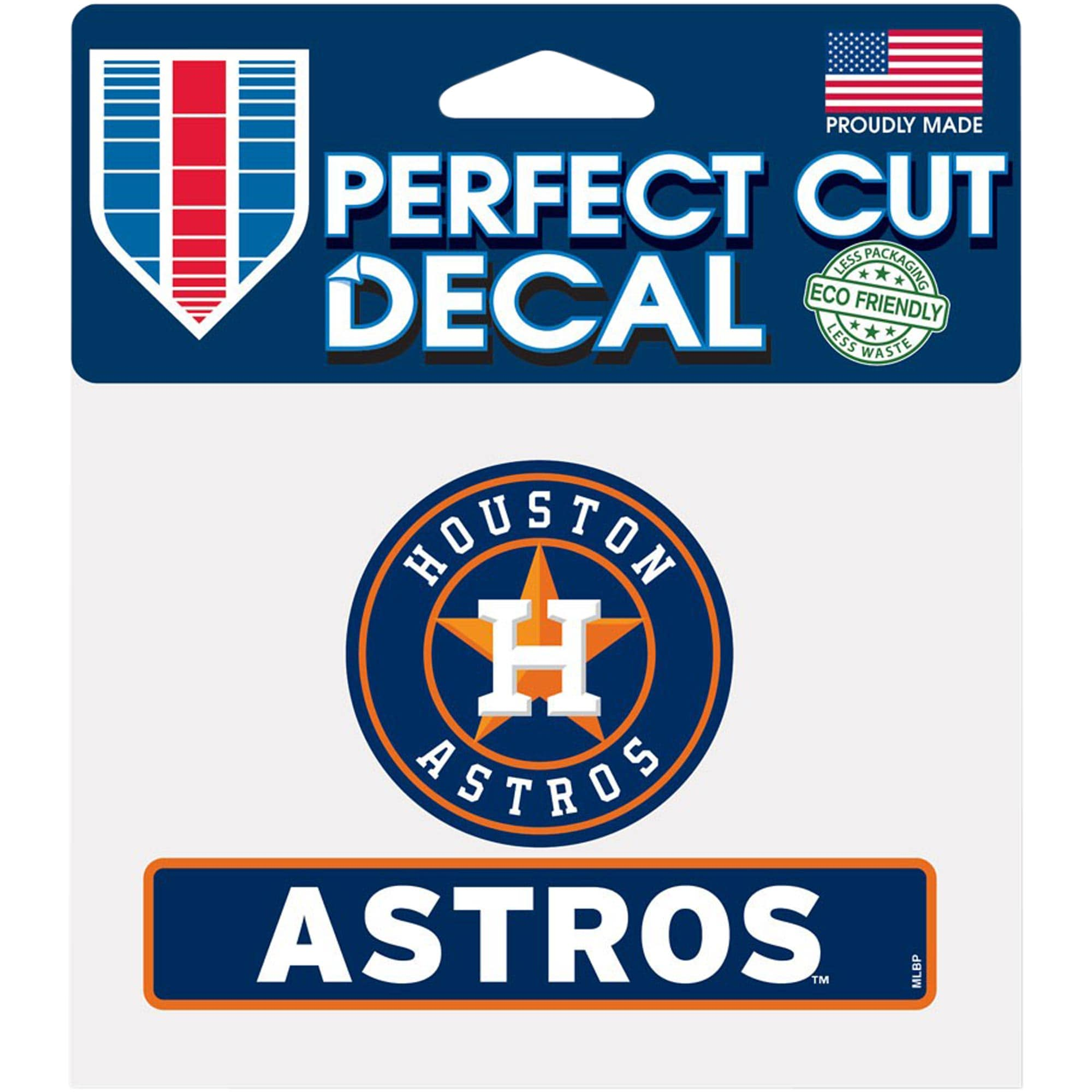 """Houston Astros WinCraft 4"""" x 5"""" Perfect Cut Logo Slogan Decal"""