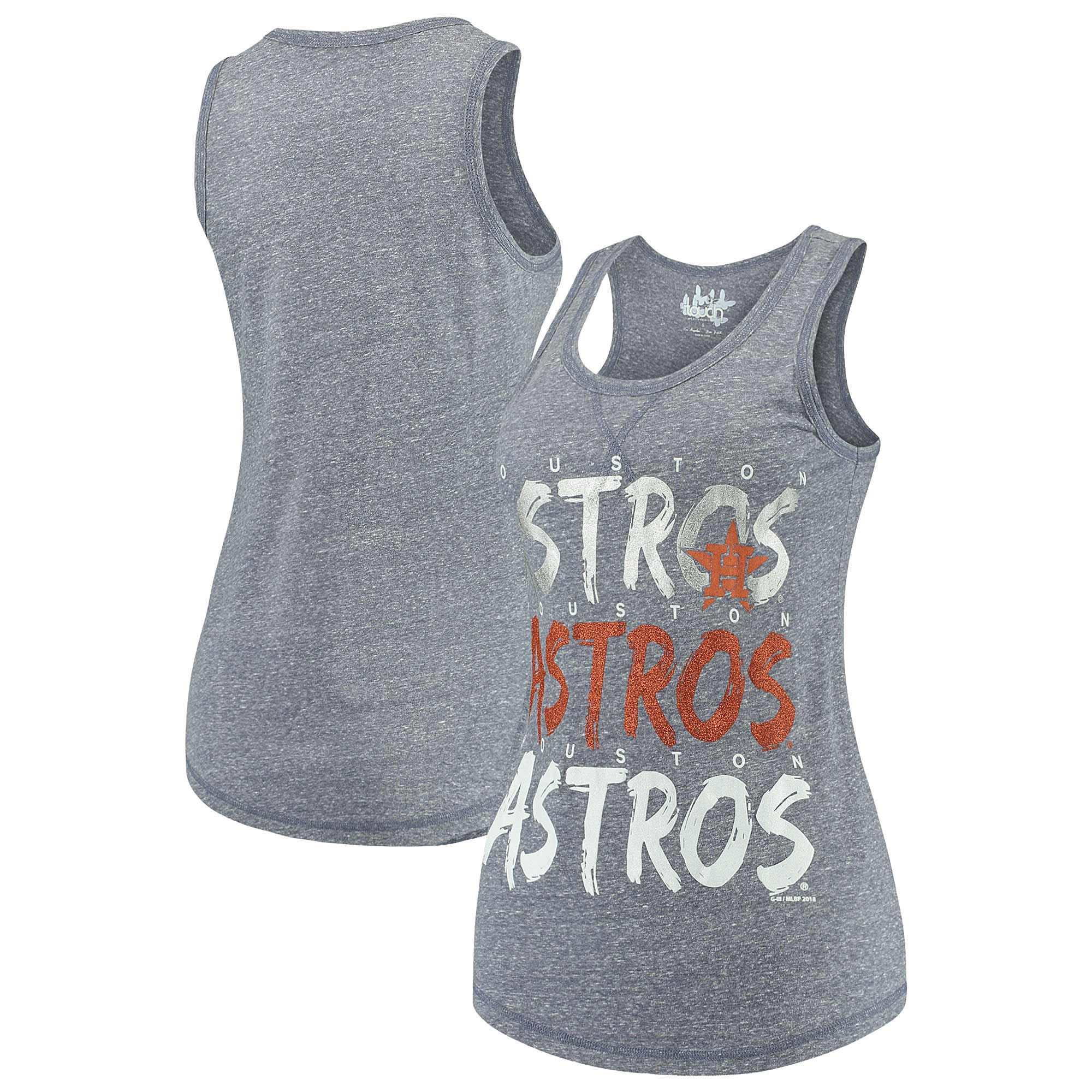 Houston Astros Touch by Alyssa Milano Women's Playoff Tri-Blend Tank Top - Heathered Navy