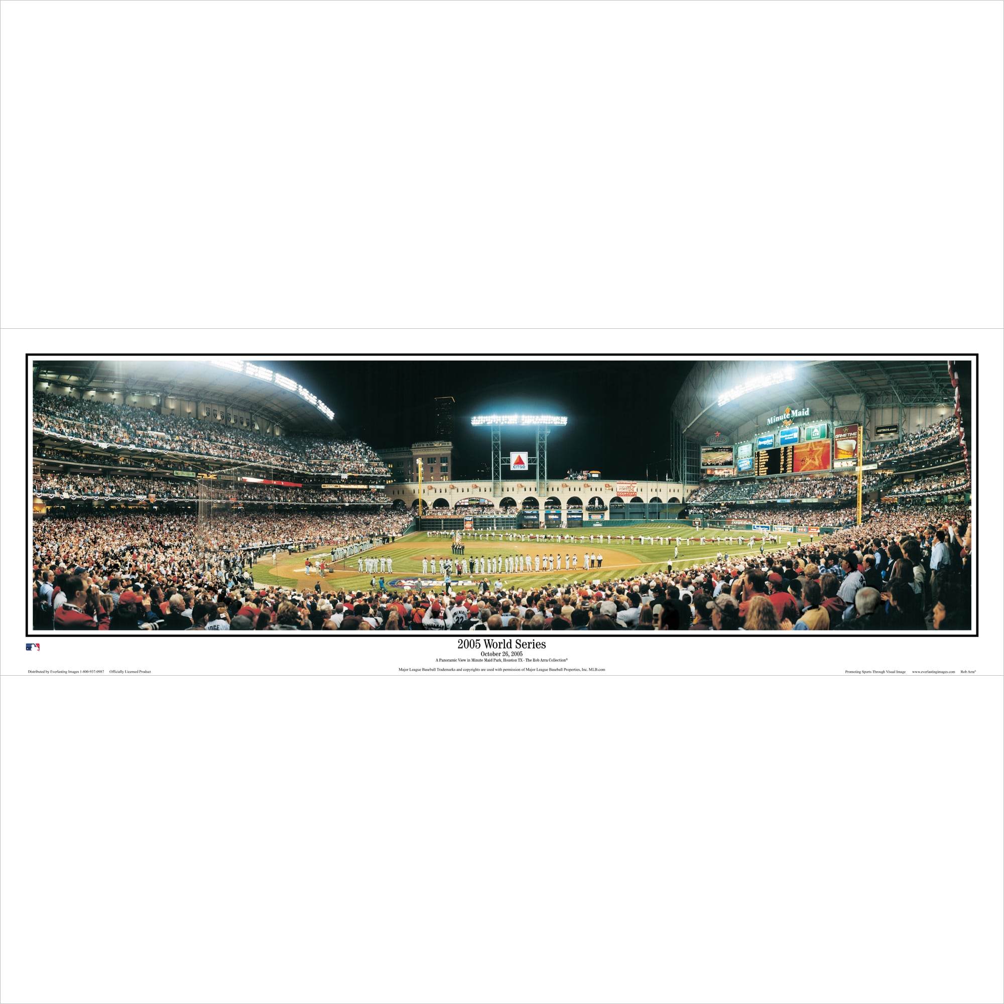 "Houston Astros 39"" x 13.5"" First Texas World Series Standard Black Framed Panoramic"