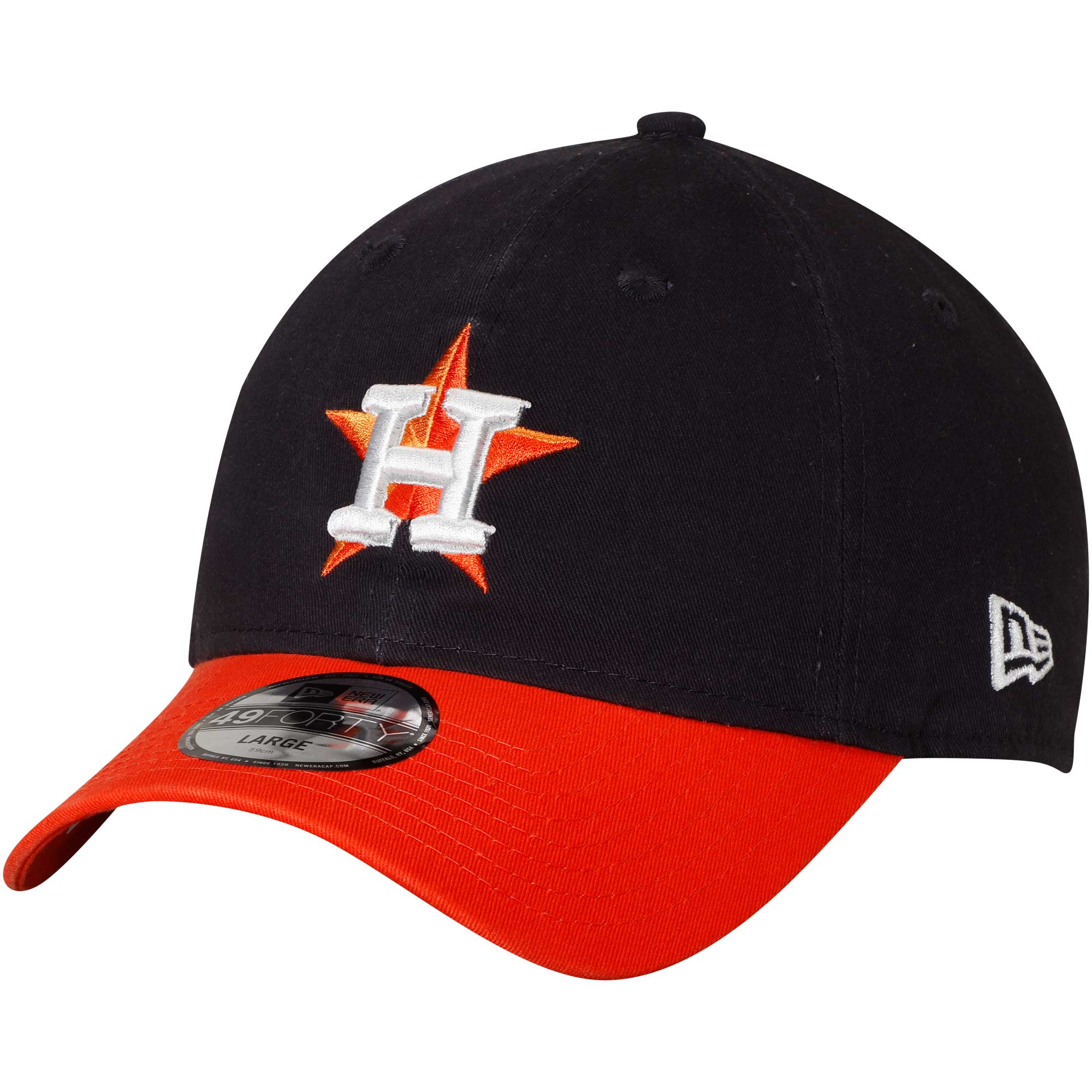 Houston Astros New Era Core Fit Replica 49FORTY Fitted Hat - Navy/Orange