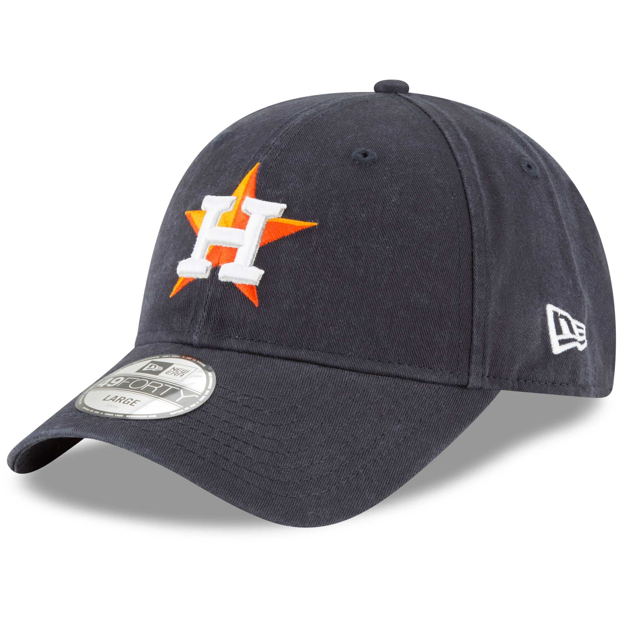 Houston Astros New Era Core Fit Replica 49FORTY Fitted Hat - Navy
