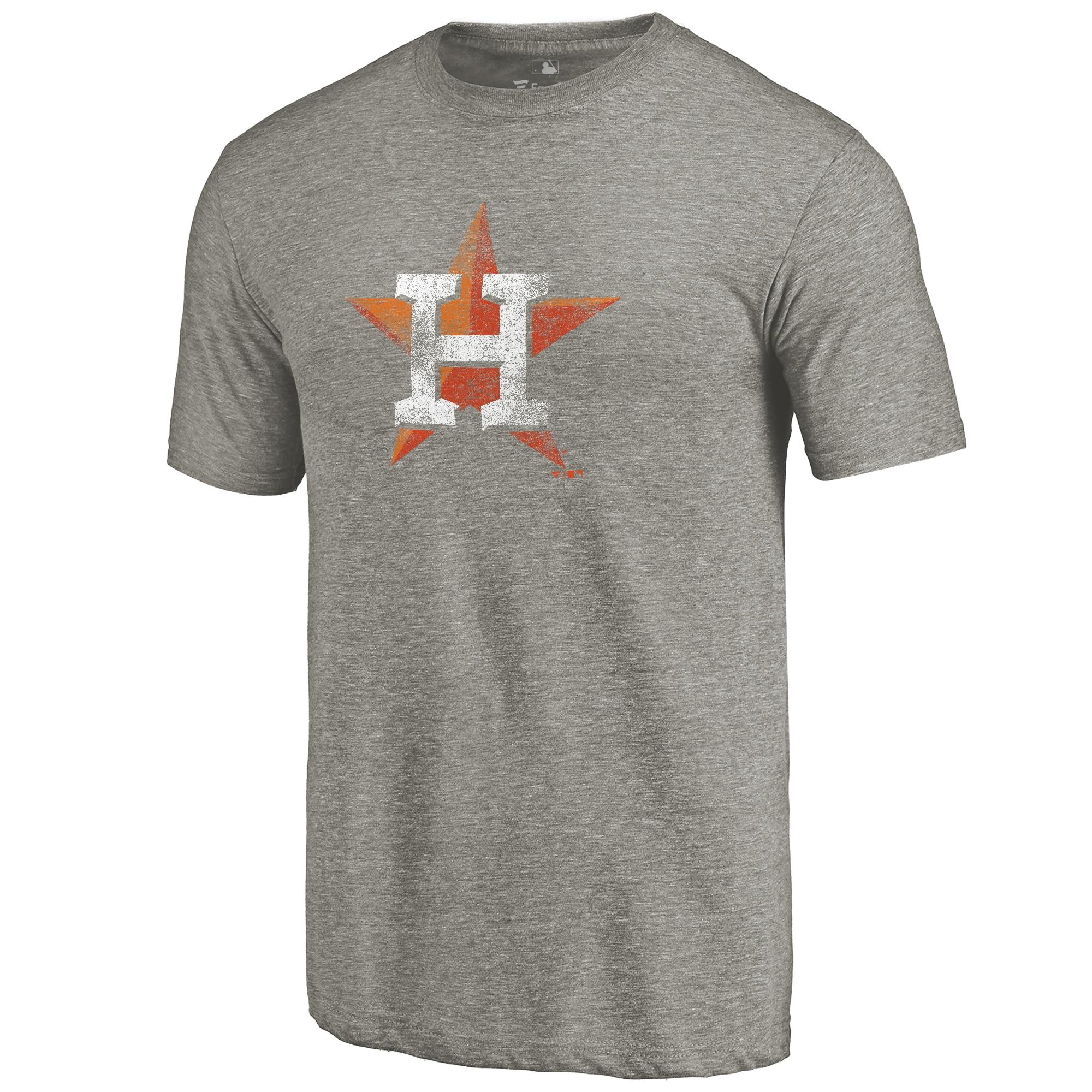 Houston Astros Distressed Team Tri-Blend T-Shirt - Ash