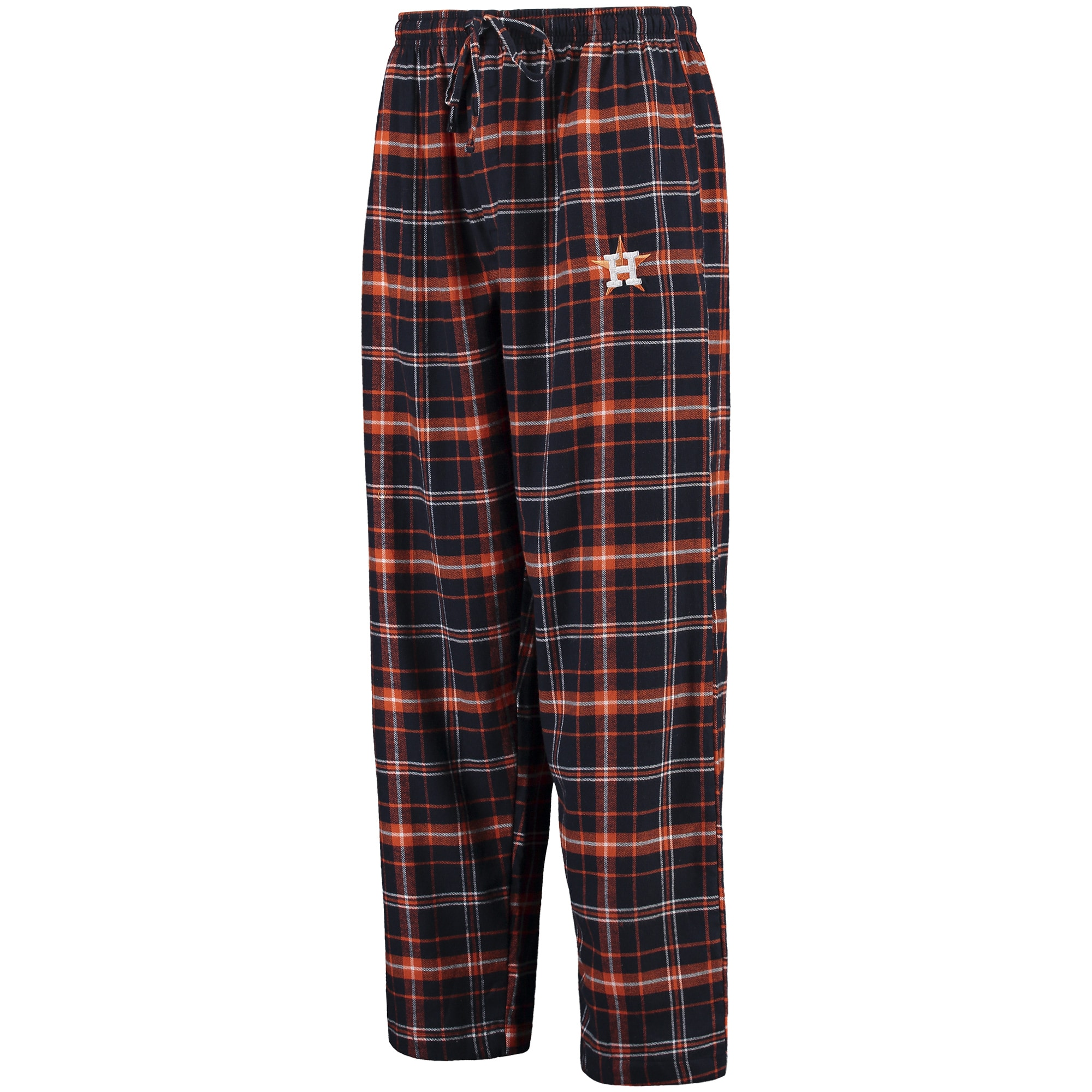 Houston Astros Concepts Sport Ultimate Plaid Flannel Pants - Navy/Orange