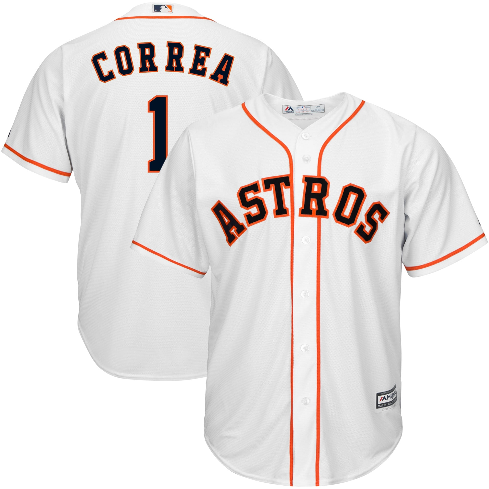 Carlos Correa Houston Astros Majestic Official Cool Base Player Jersey - White