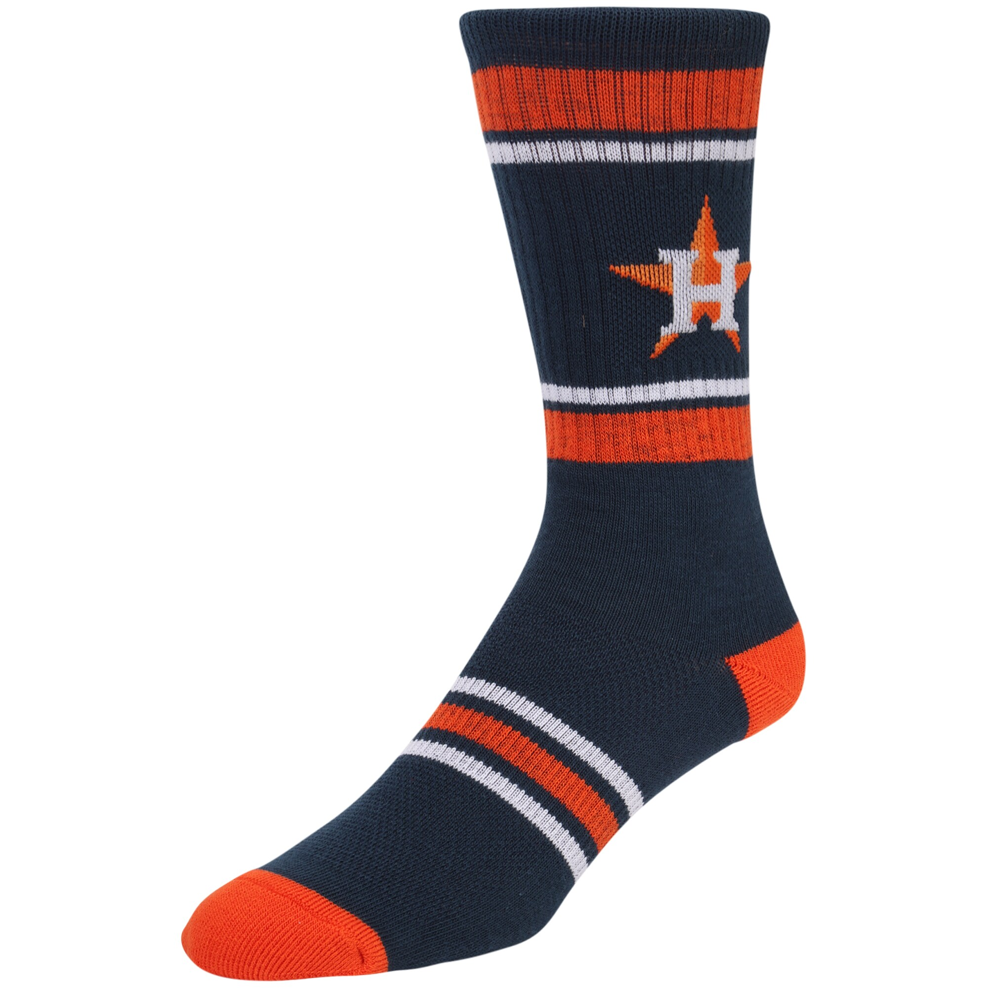 Houston Astros Stripe Crew Socks - Navy