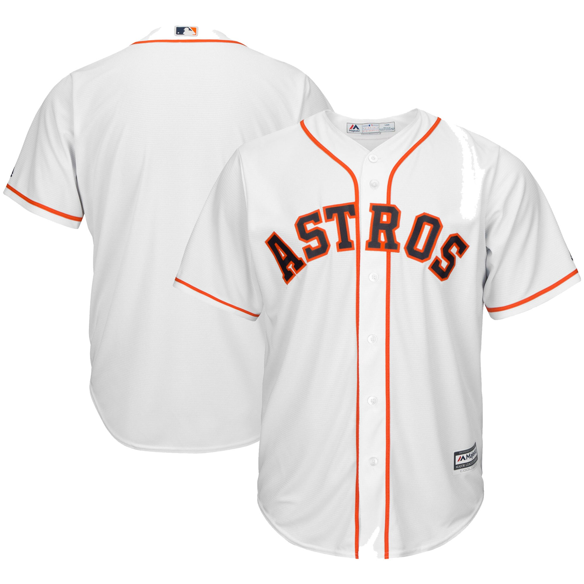 Houston Astros Majestic Big & Tall Home Cool Base Team Jersey - White
