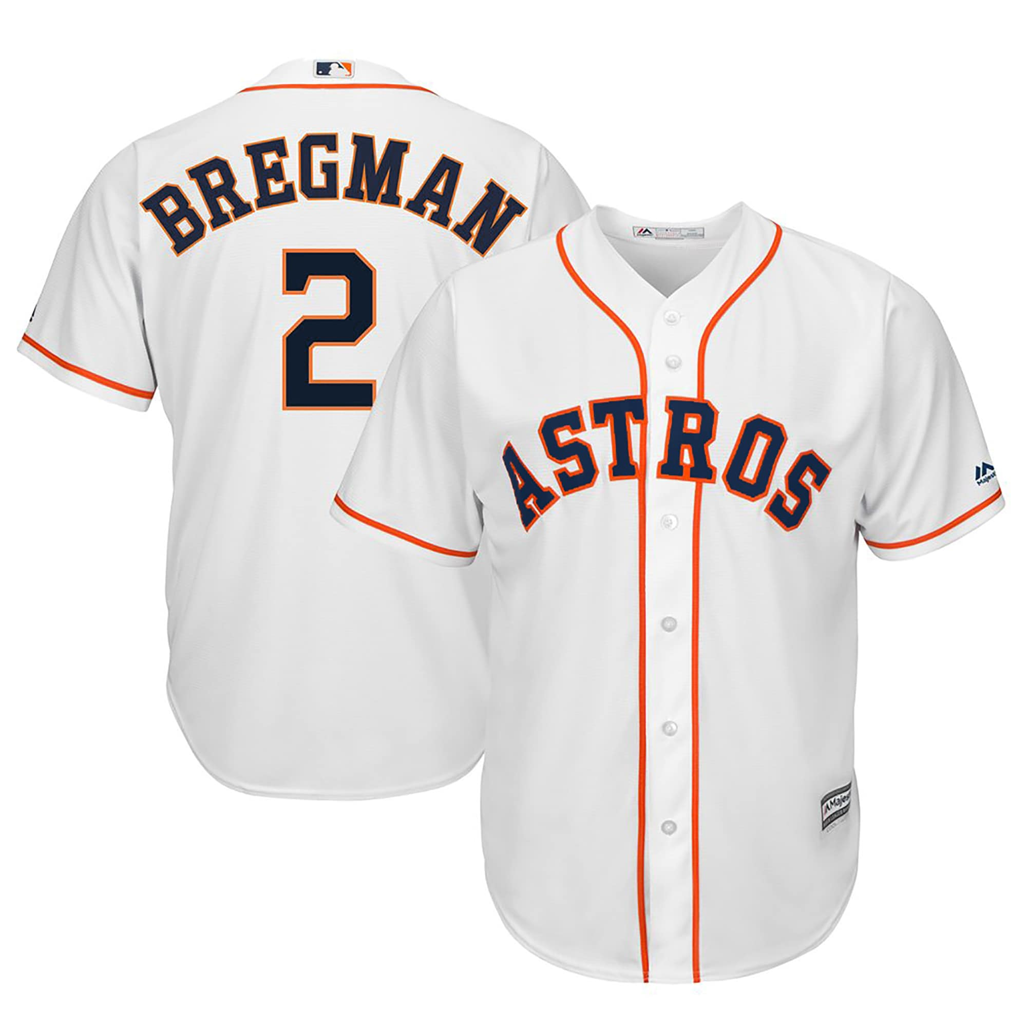 Alex Bregman Houston Astros Majestic Home Official Cool Base Player Replica Jersey - White
