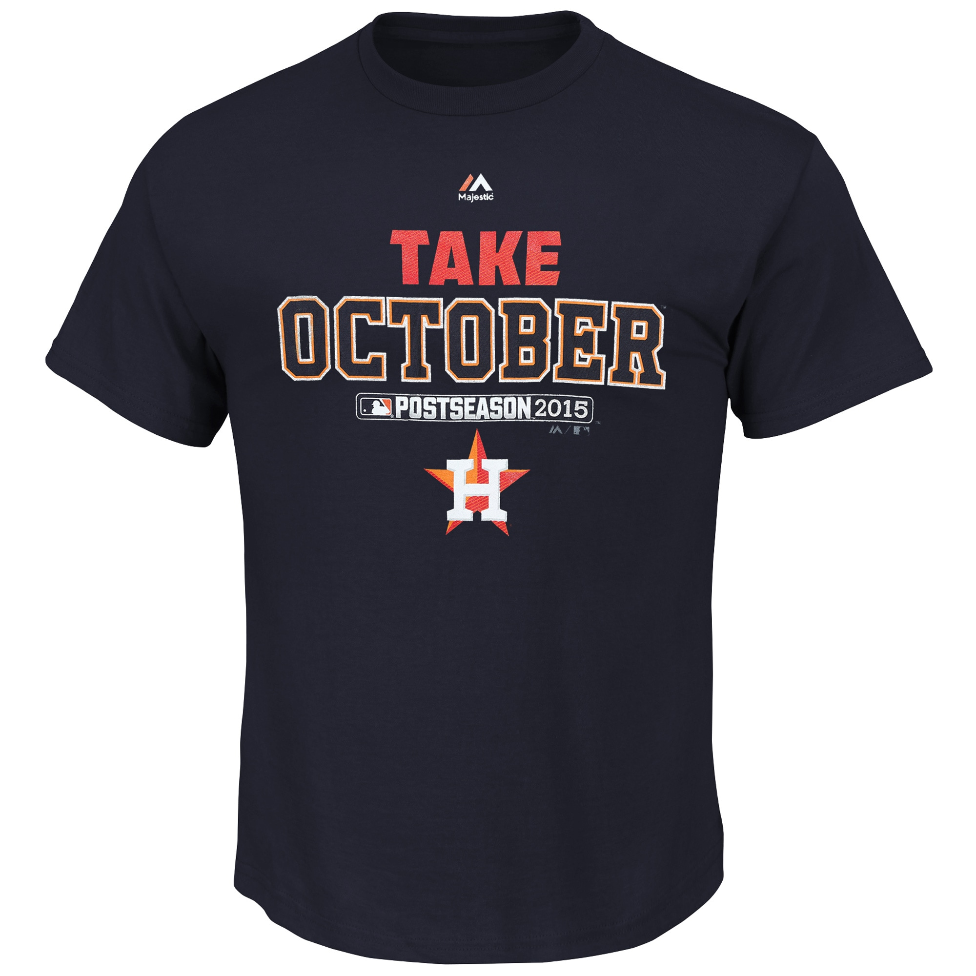 Houston Astros Majestic Big & Tall 2015 Postseason is Ours T-Shirt - Navy