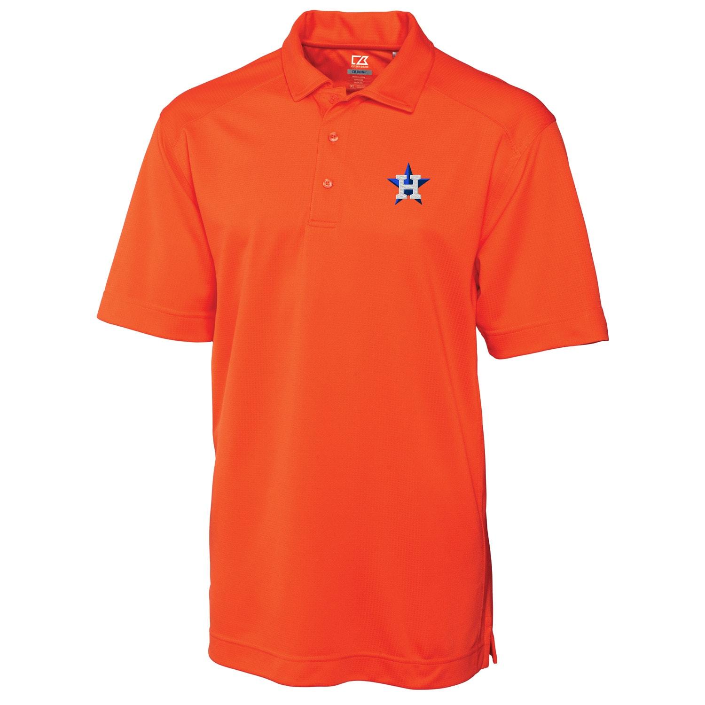 Houston Astros Cutter & Buck Big & Tall DryTec Genre Polo - Orange
