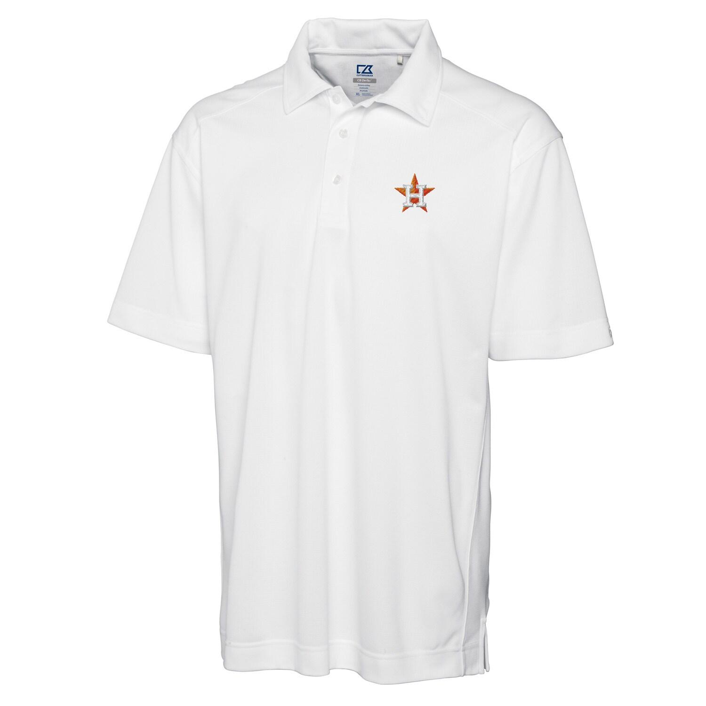 Houston Astros Cutter & Buck Big & Tall DryTec Genre Polo - White