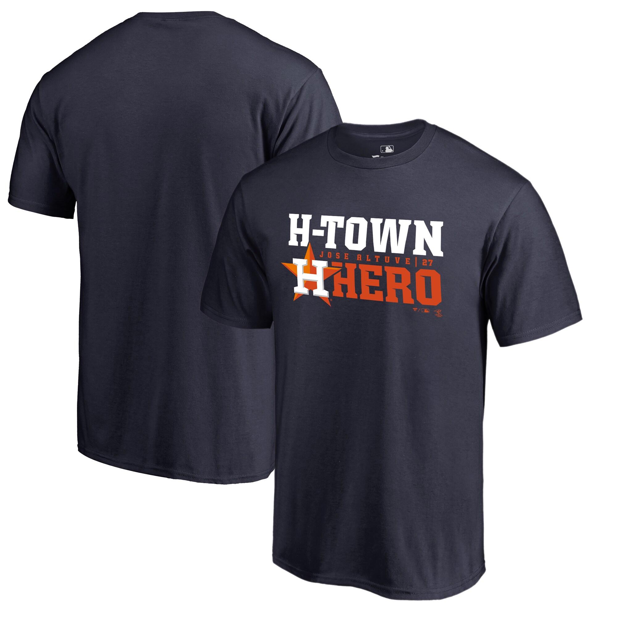Jose Altuve Houston Astros Fanatics Branded Player Hometown Collection T-Shirt - Navy