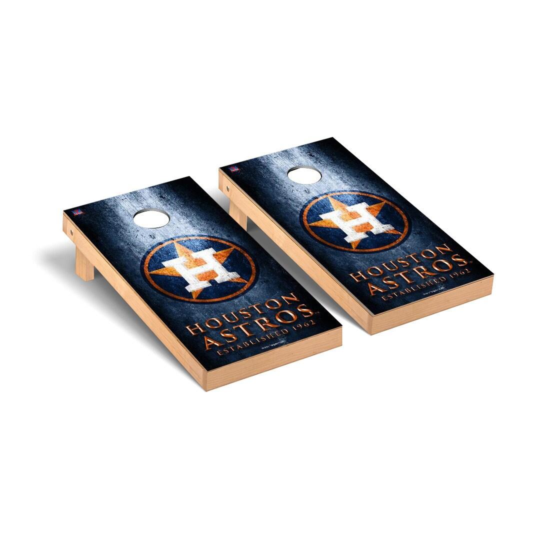 Houston Astros 2' x 4' Metal Cornhole Board Tailgate Toss Set