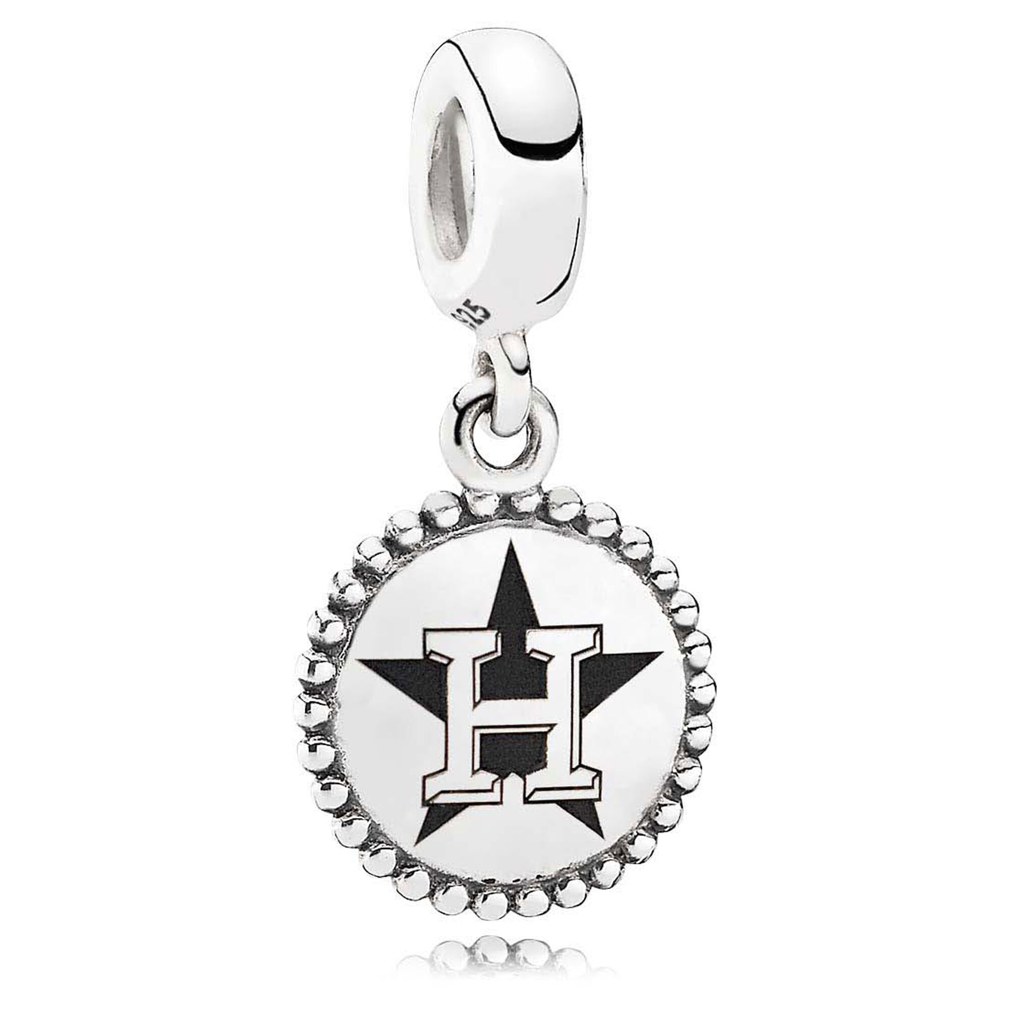 Houston Astros Pandora Women's Dangle Unforgettable Moment Charm - Silver
