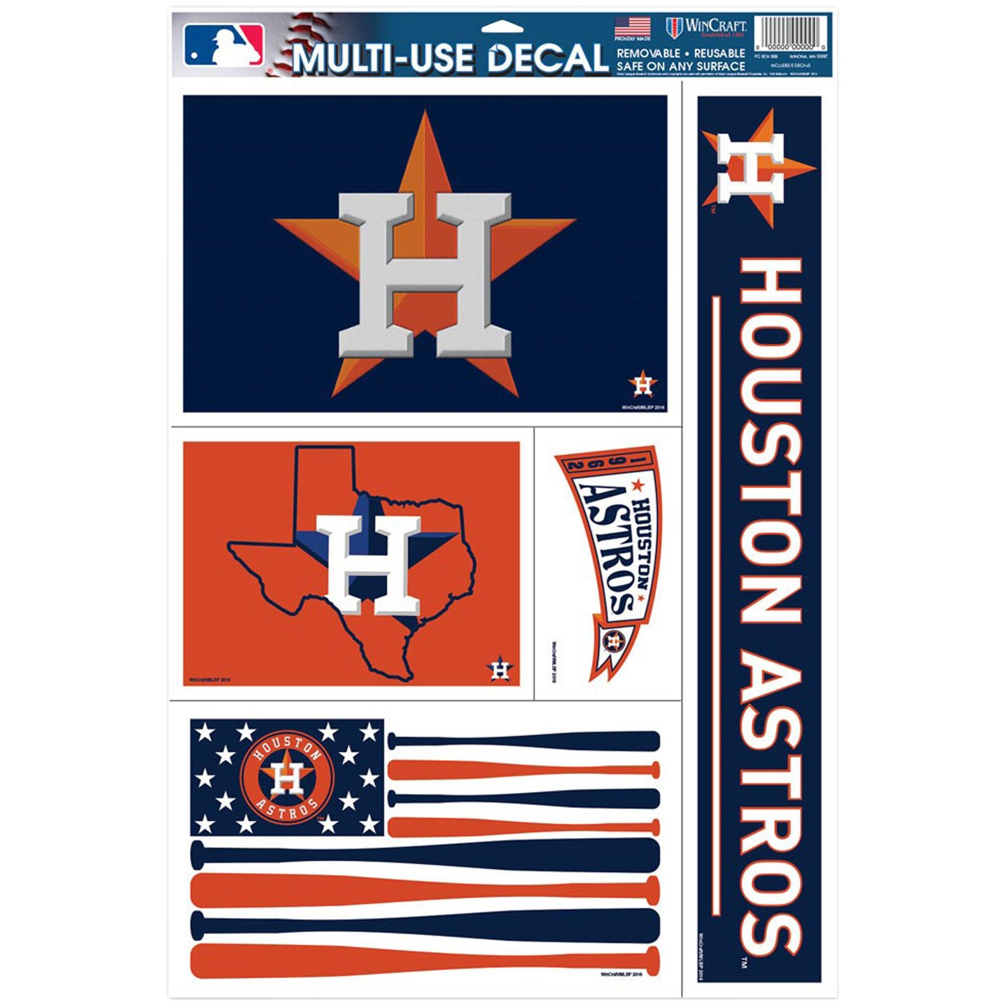 "Houston Astros WinCraft 11"" x 17"" Multi-Use Decal Sheet"