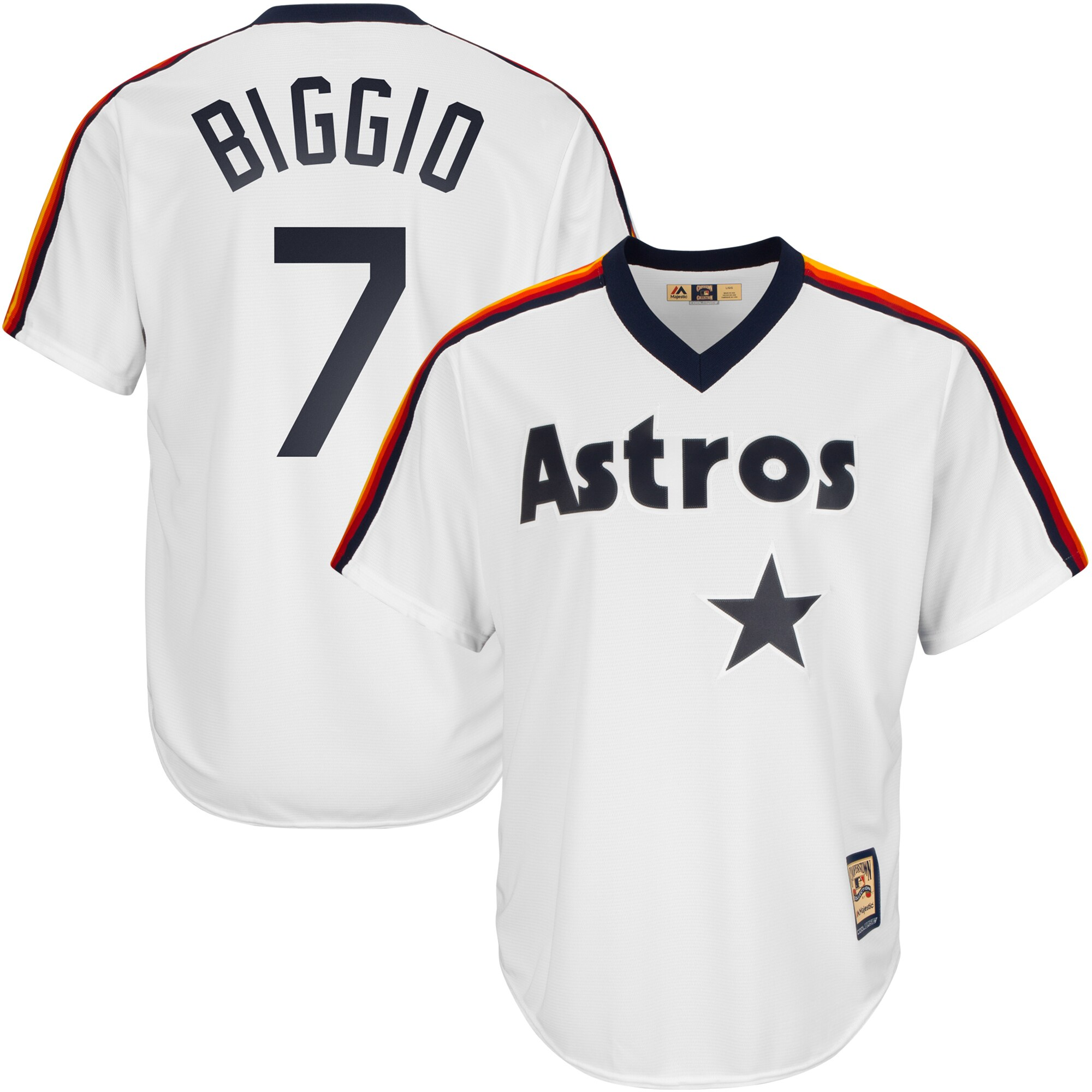 Craig Biggio Houston Astros Majestic Home Big & Tall Cooperstown Cool Base Player Jersey - White