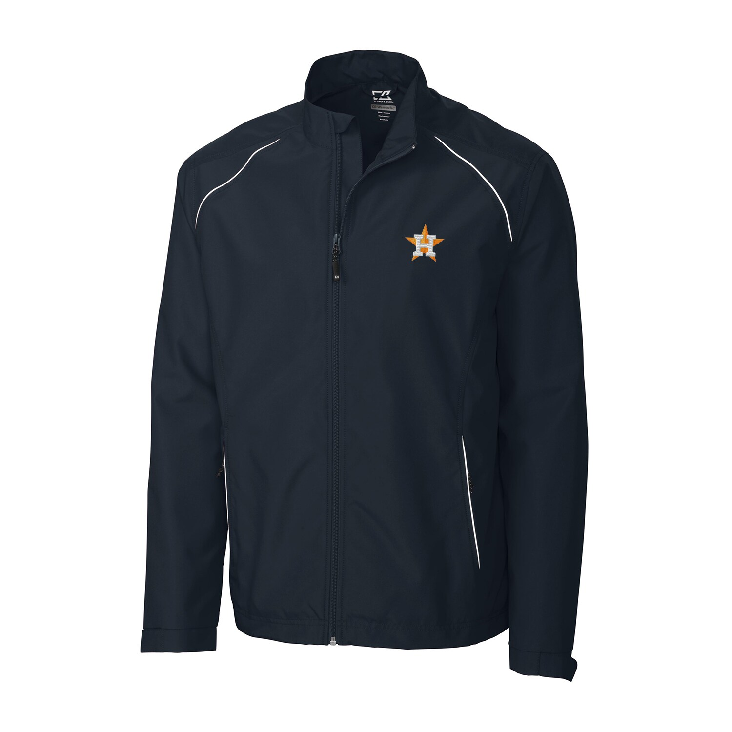 Houston Astros Cutter & Buck Beacon WeatherTec Full-Zip Jacket - Navy