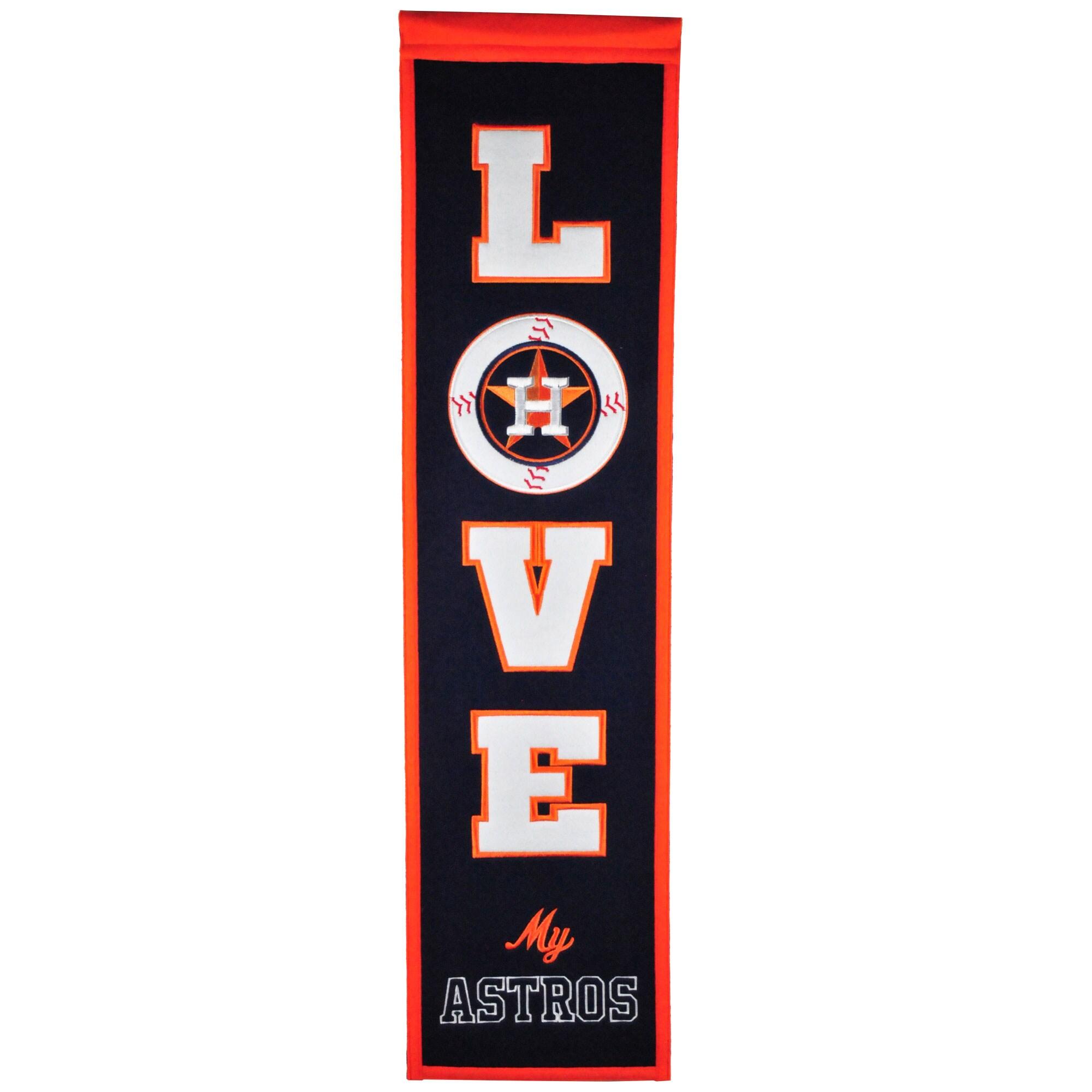 Houston Astros 8'' x 32'' Love Banner