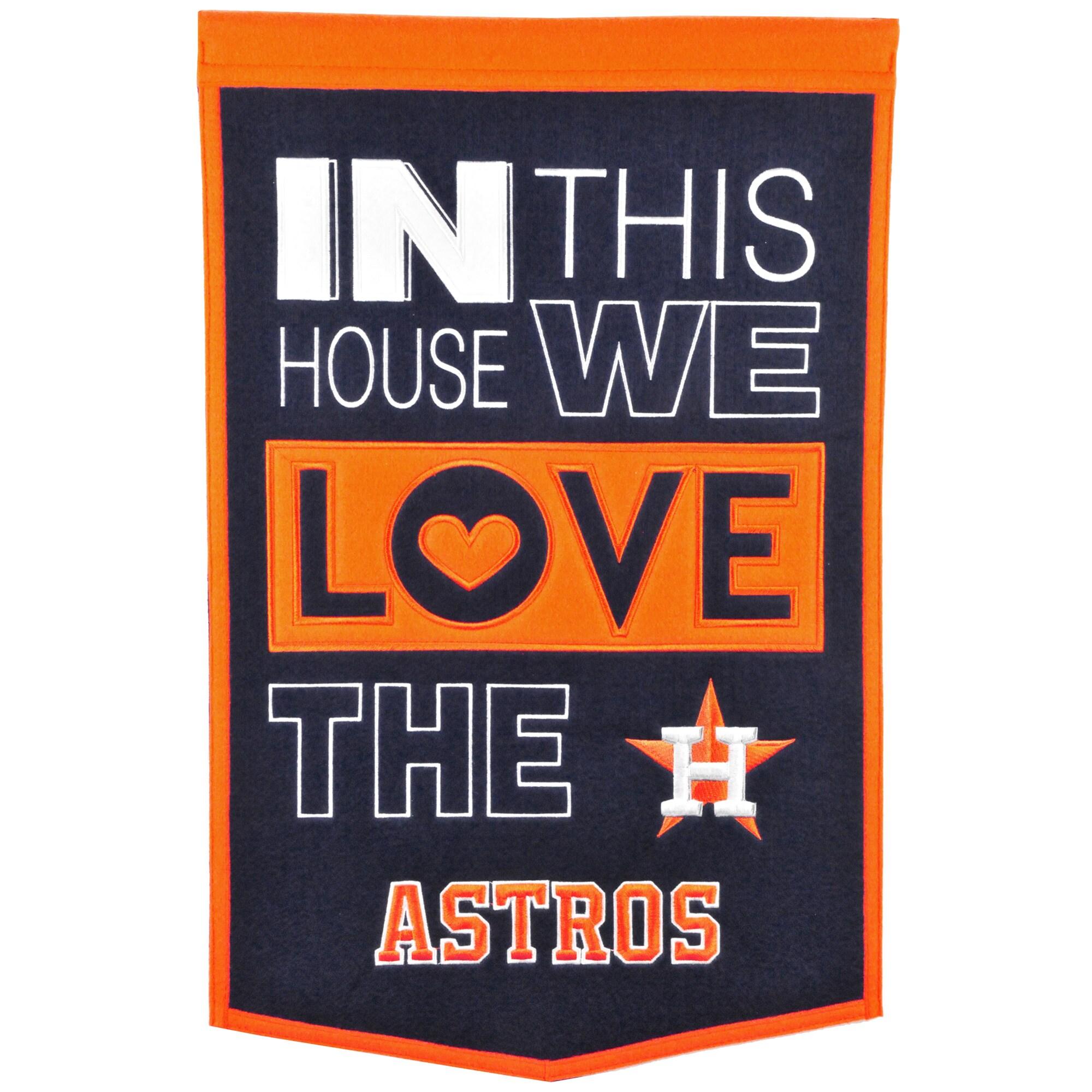 Houston Astros 15'' x 24'' Home Banner - Navy/Orange