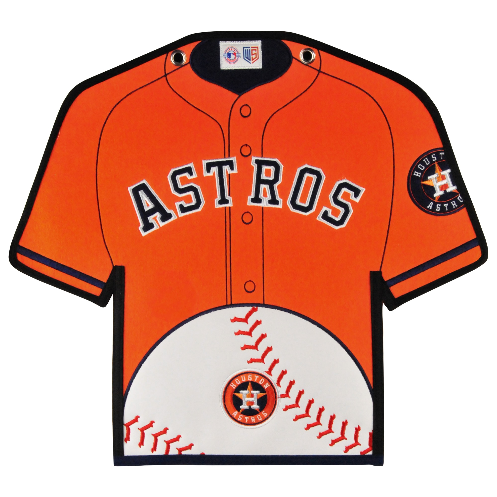 Houston Astros 14'' x 22'' Jersey Traditions Banner - Orange/Navy