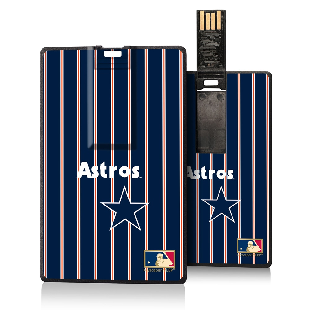 Houston Astros 1975-1981 Cooperstown Pinstripe Credit Card USB Drive