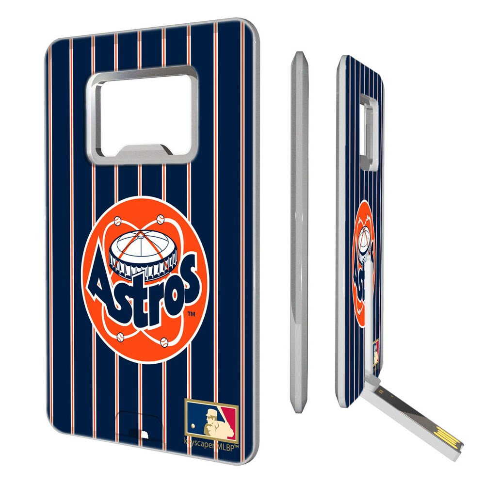 Houston Astros 1977-1998 Cooperstown Pinstripe Credit Card USB Drive & Bottle Opener