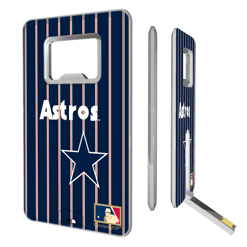 Houston Astros 1975-1981 Cooperstown Pinstripe Credit Card USB Drive & Bottle Opener
