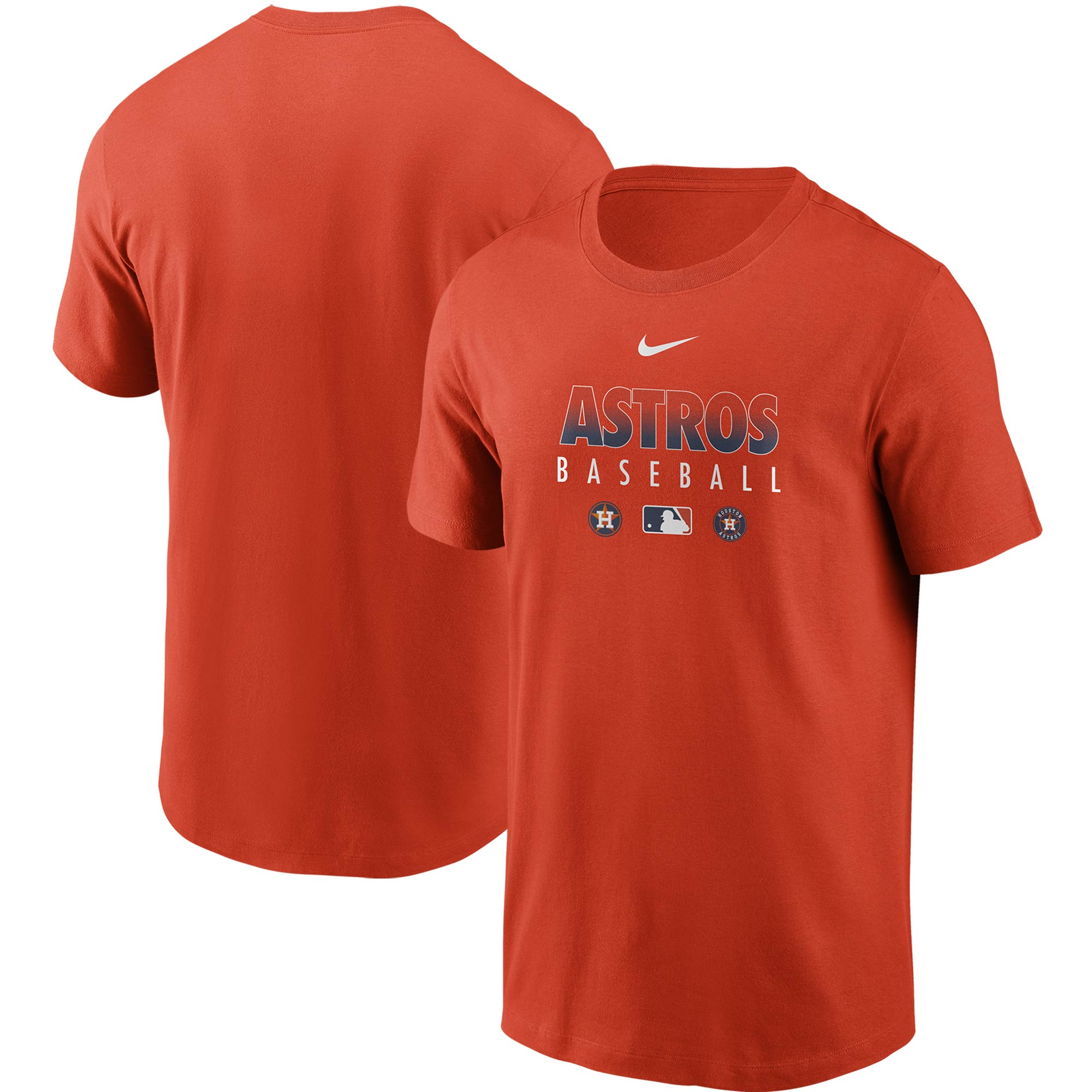 Houston Astros Nike Authentic Collection Team Performance T-Shirt - Orange
