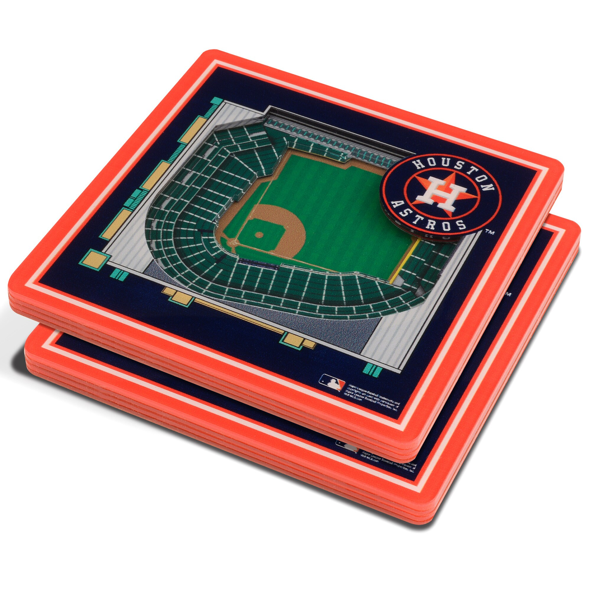 Houston Astros 3D StadiumViews Coasters - Blue