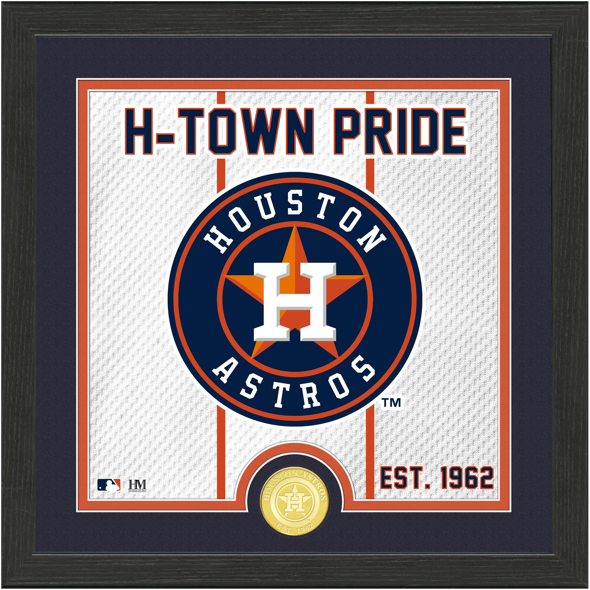Houston Astros Highland Mint 13'' x 13'' Battle Cry Bronze Coin Photo Mint