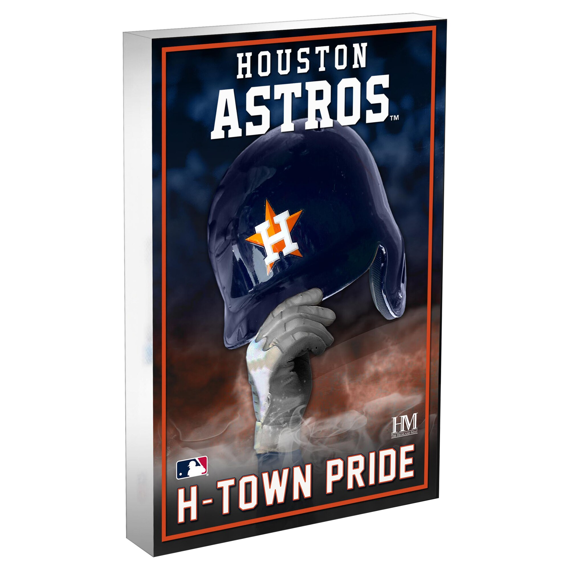 Houston Astros Highland Mint 4'' x 6'' Team Pride Acrylic 3D Block Photo