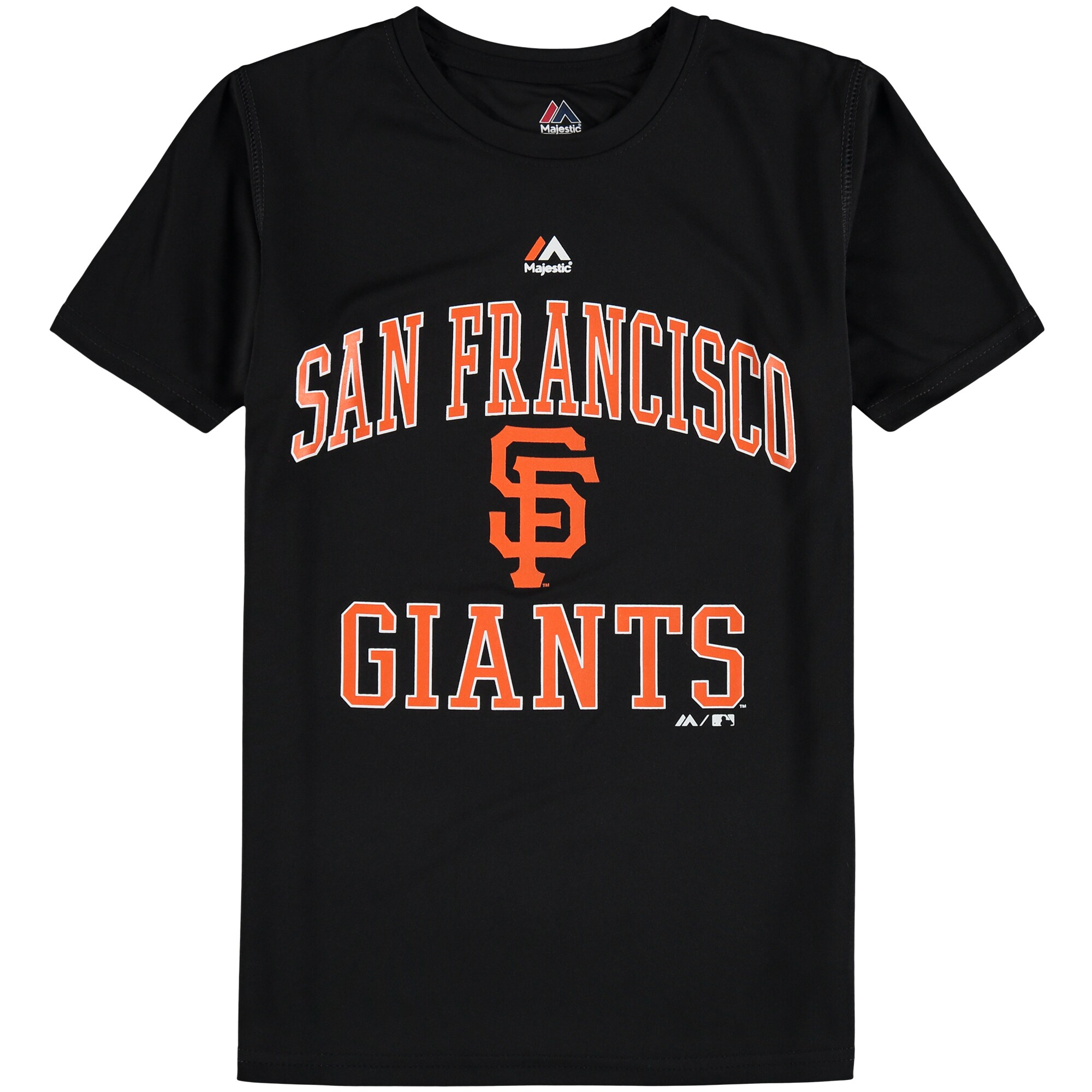 San Francisco Giants Majestic Youth City Wide Cool Base T-Shirt - Black