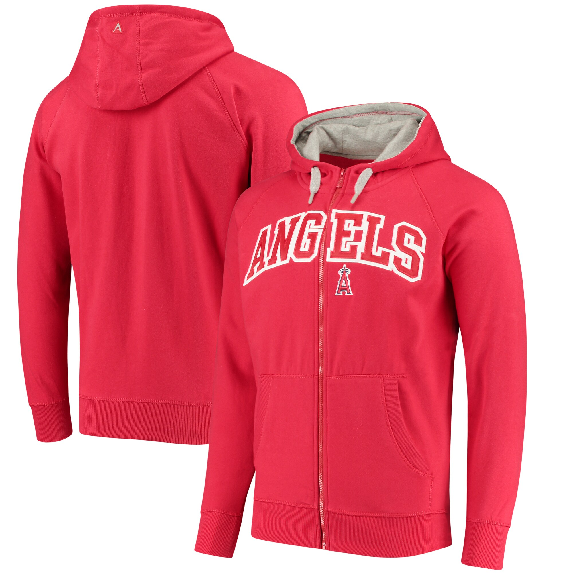 Los Angeles Angels Antigua Team Victory Full-Zip Hoodie - Red