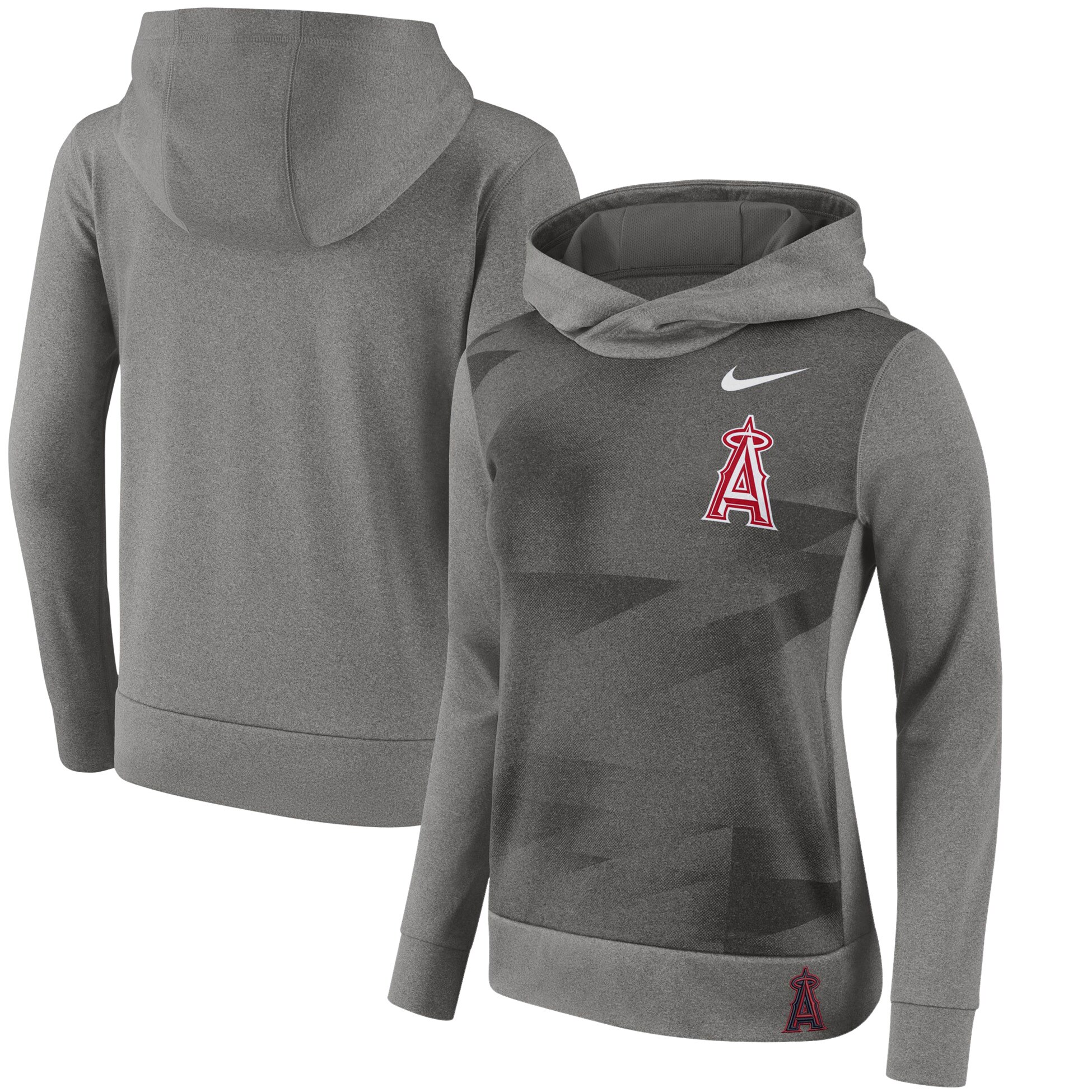 Los Angeles Angels Nike Women's Performance Pullover Hoodie - Gray
