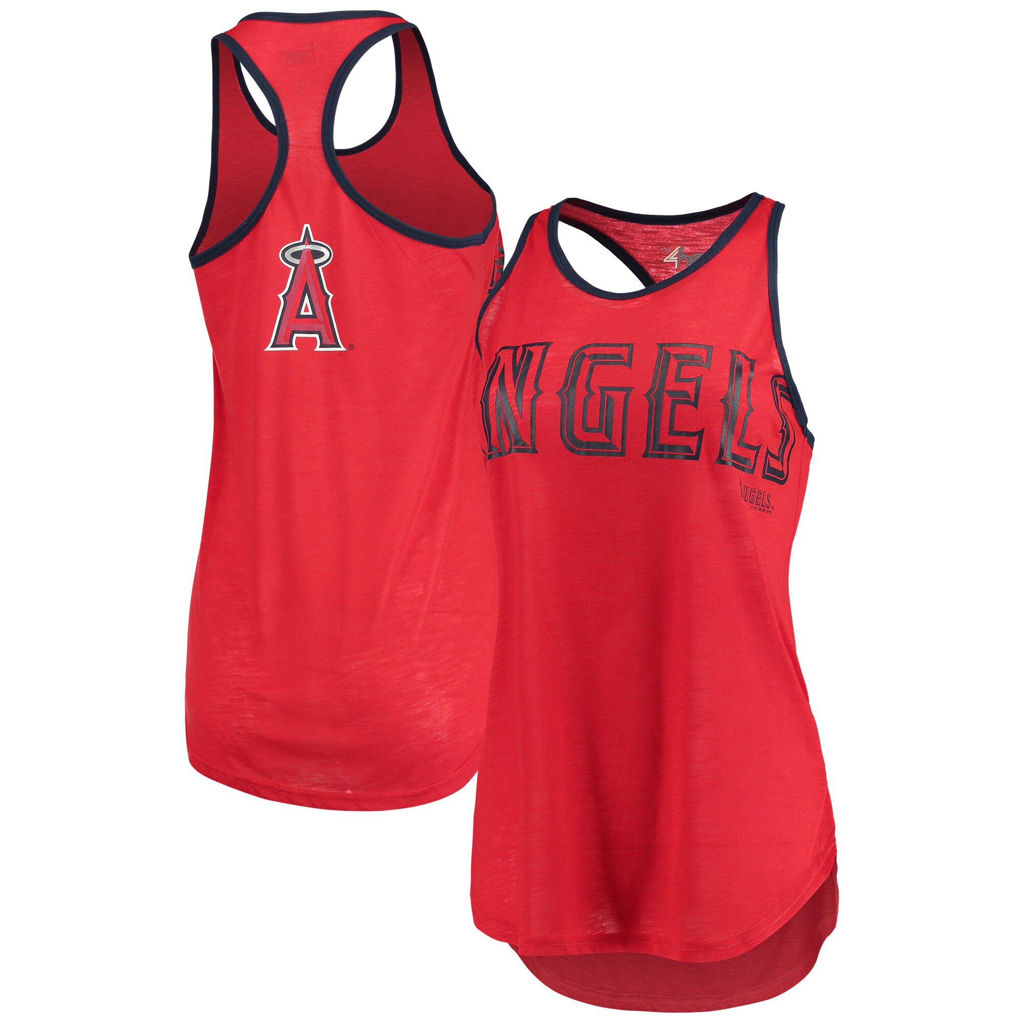 Los Angeles Angels G-III 4Her by Carl Banks Women's Game Time Tank Top - Red/Navy