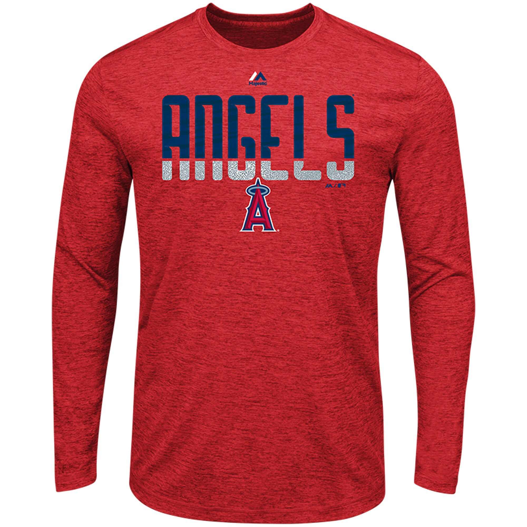 Los Angeles Angels Majestic Unstoppable Force Long Sleeve Cool Base T-Shirt - Red