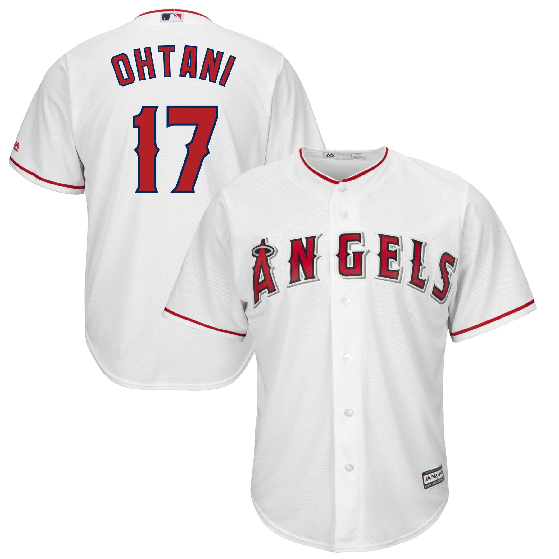 Shohei Ohtani Los Angeles Angels Majestic Official Cool Base Player Jersey - White