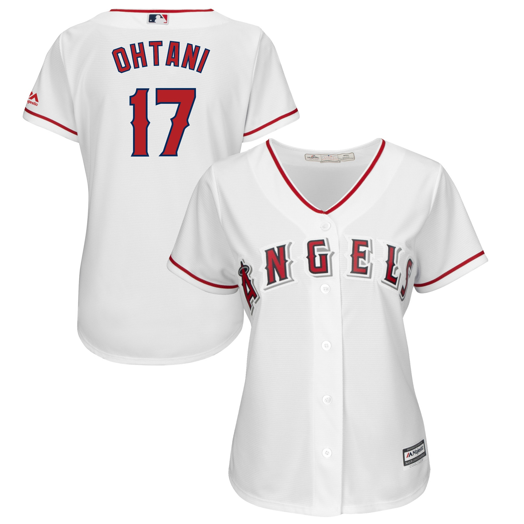 Shohei Ohtani Los Angeles Angels Majestic Women's Cool Base Player Jersey - White