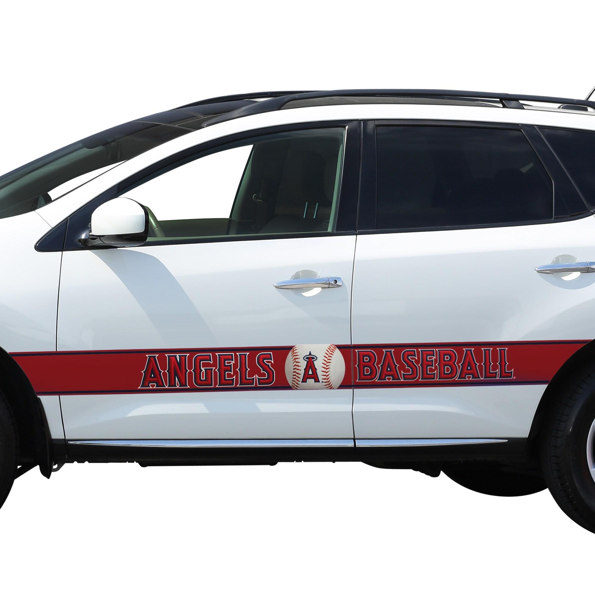 Los Angeles Angels Team Ball Racing Stripe Car Decals