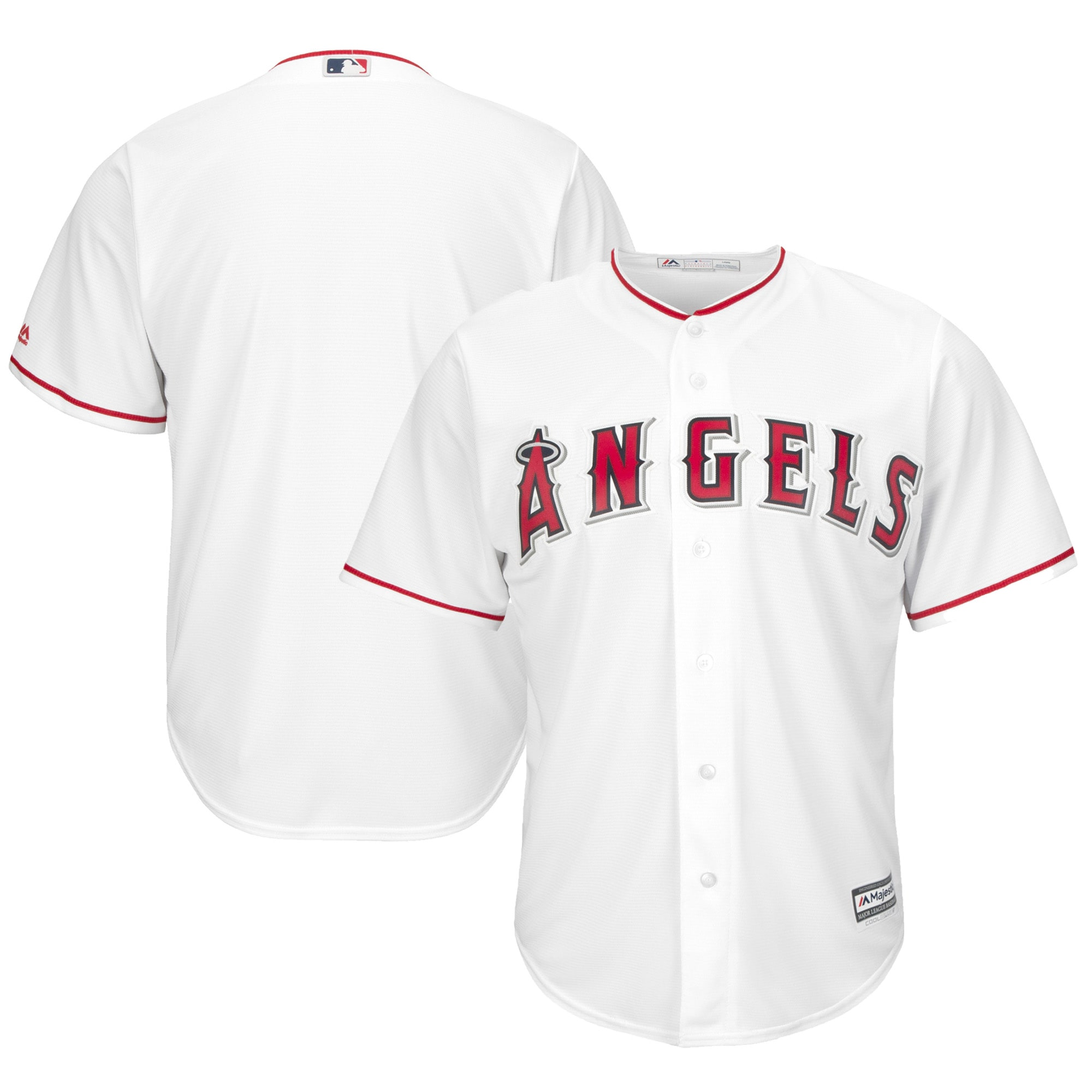 Los Angeles Angels Majestic Youth Official Cool Base Jersey - White
