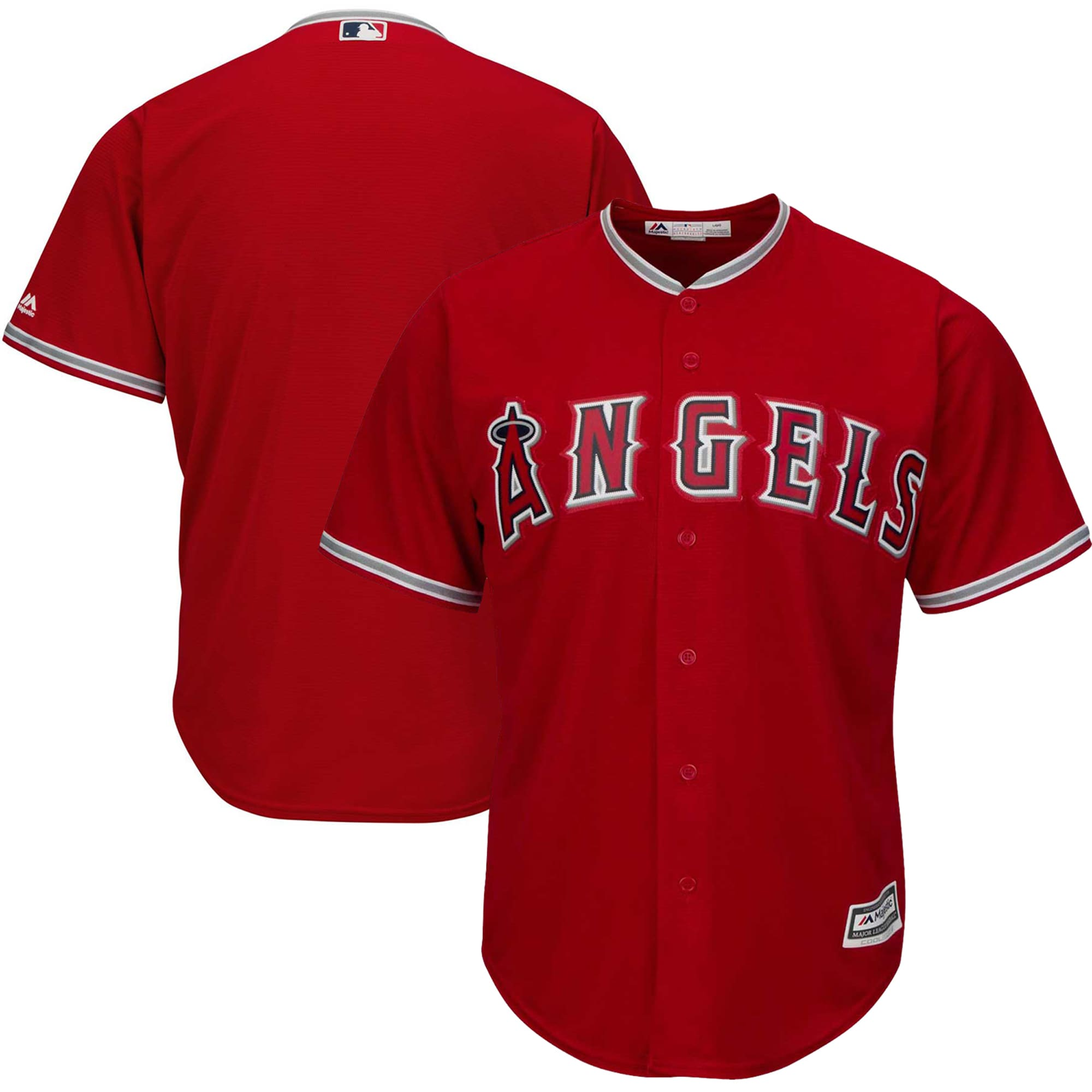 Los Angeles Angels Majestic Official Cool Base Jersey - Red
