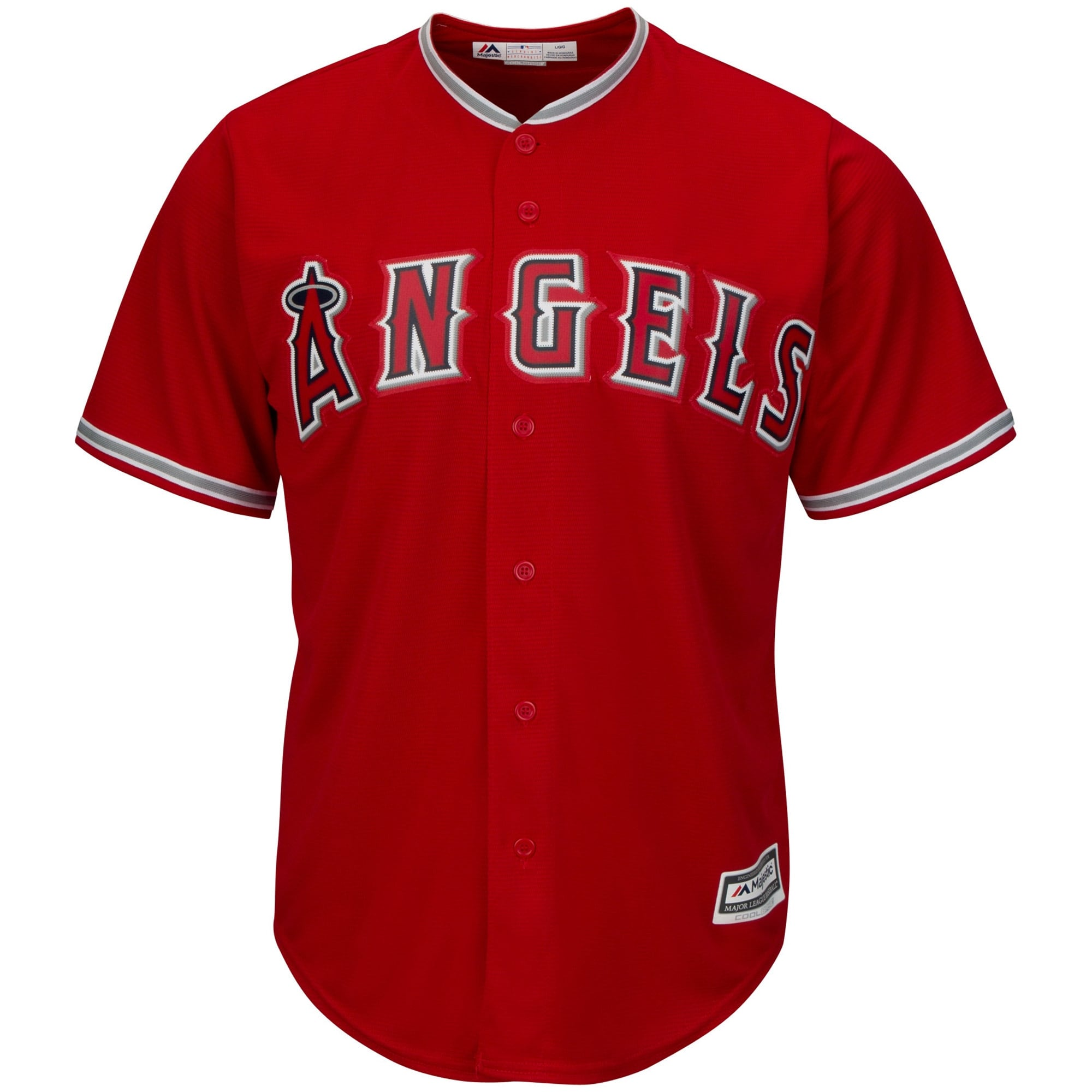 Los Angeles Angels Majestic Youth Official Cool Base Jersey - Scarlet