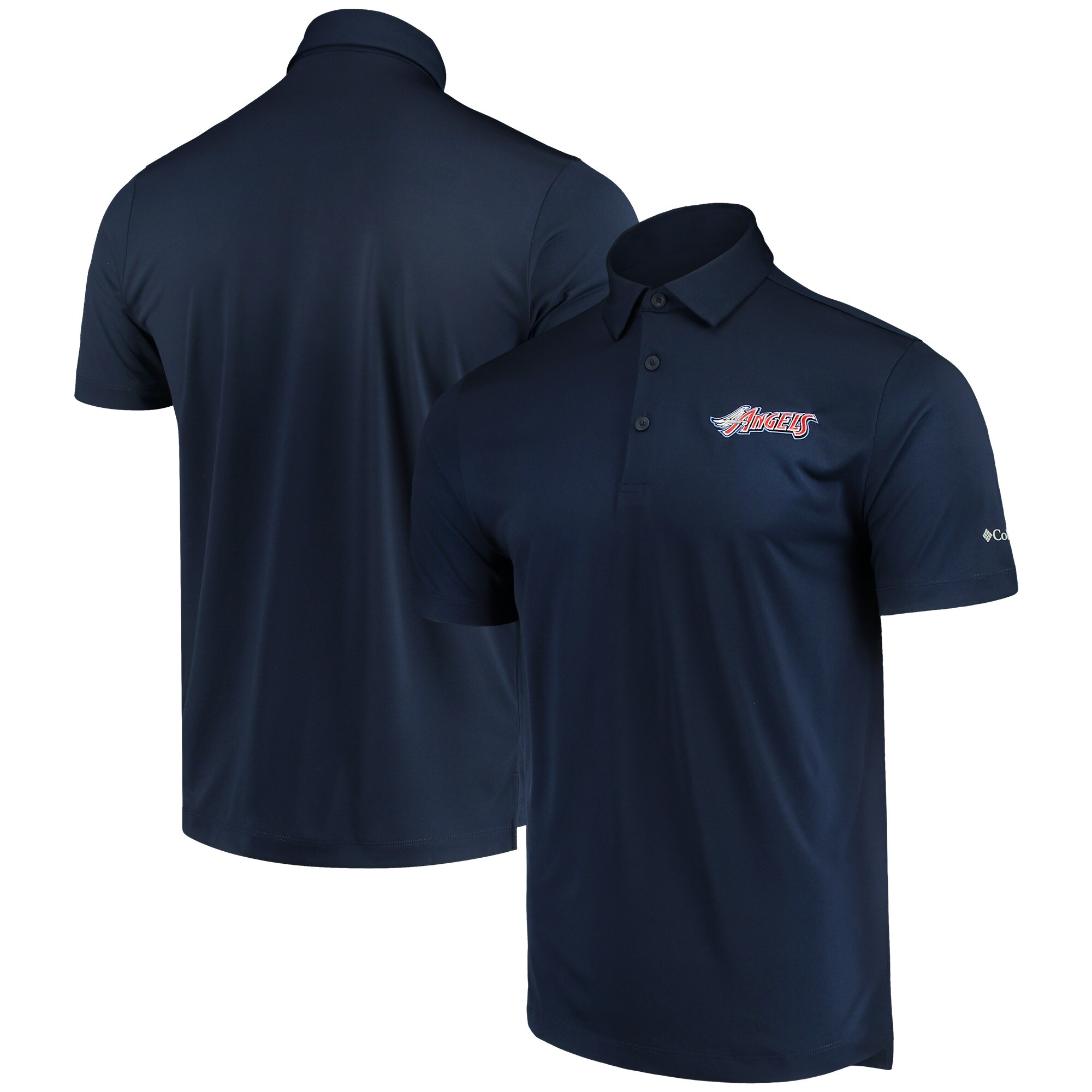 Los Angeles Angels Columbia Drive Omni-Wick Polo - Navy