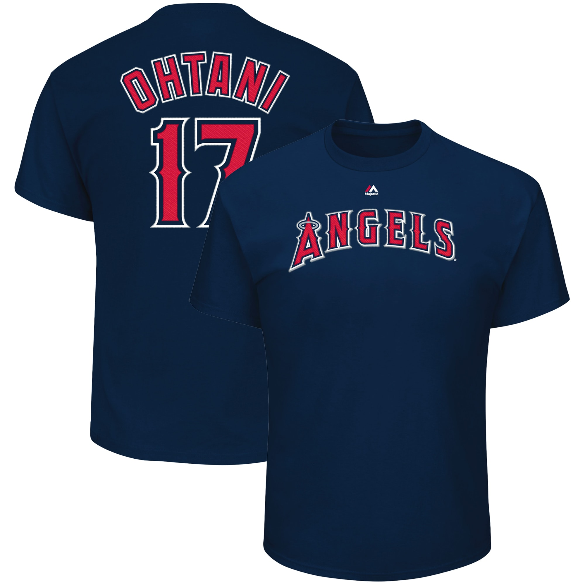 Shohei Ohtani Los Angeles Angels Majestic Name & Number T-Shirt - Navy