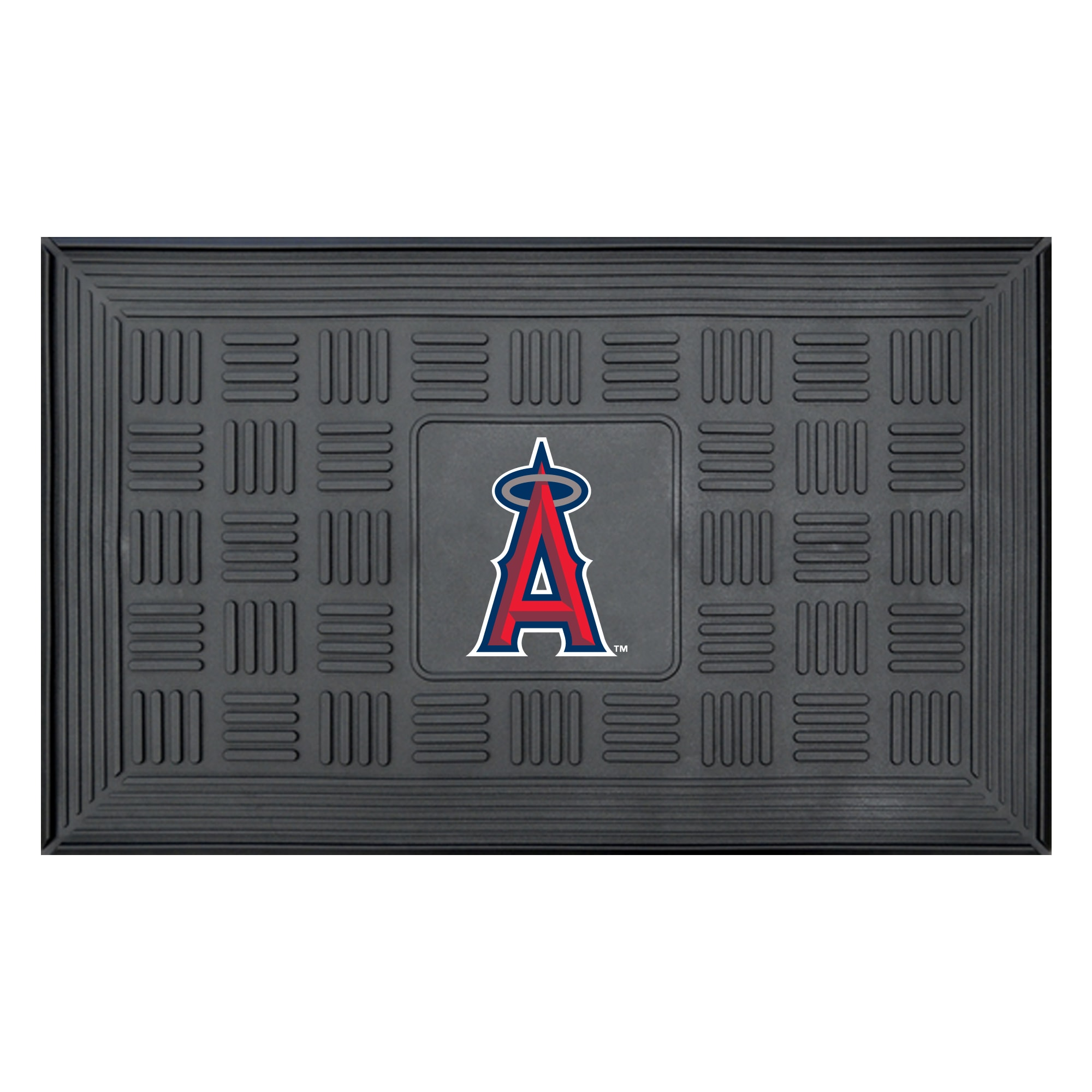 "Los Angeles Angels 19"" x 30"" Vinyl Medallion Door Mat - Black"