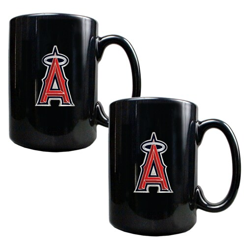 Los Angeles Angels 15oz. Coffee Mug Set - Black