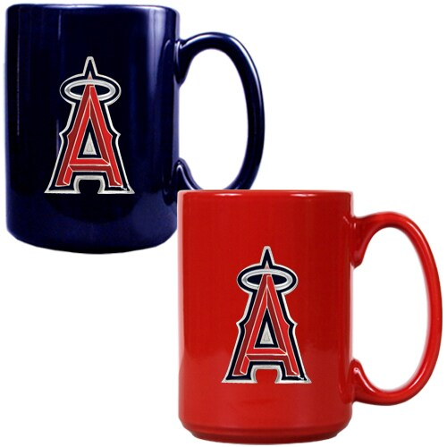 Los Angeles Angels 15oz. Coffee Mug Set - Navy/Red