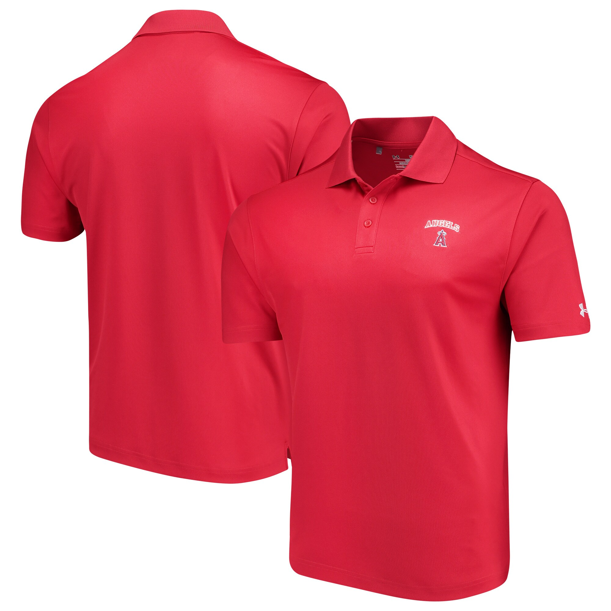Los Angeles Angels Under Armour Performance Polo - Red