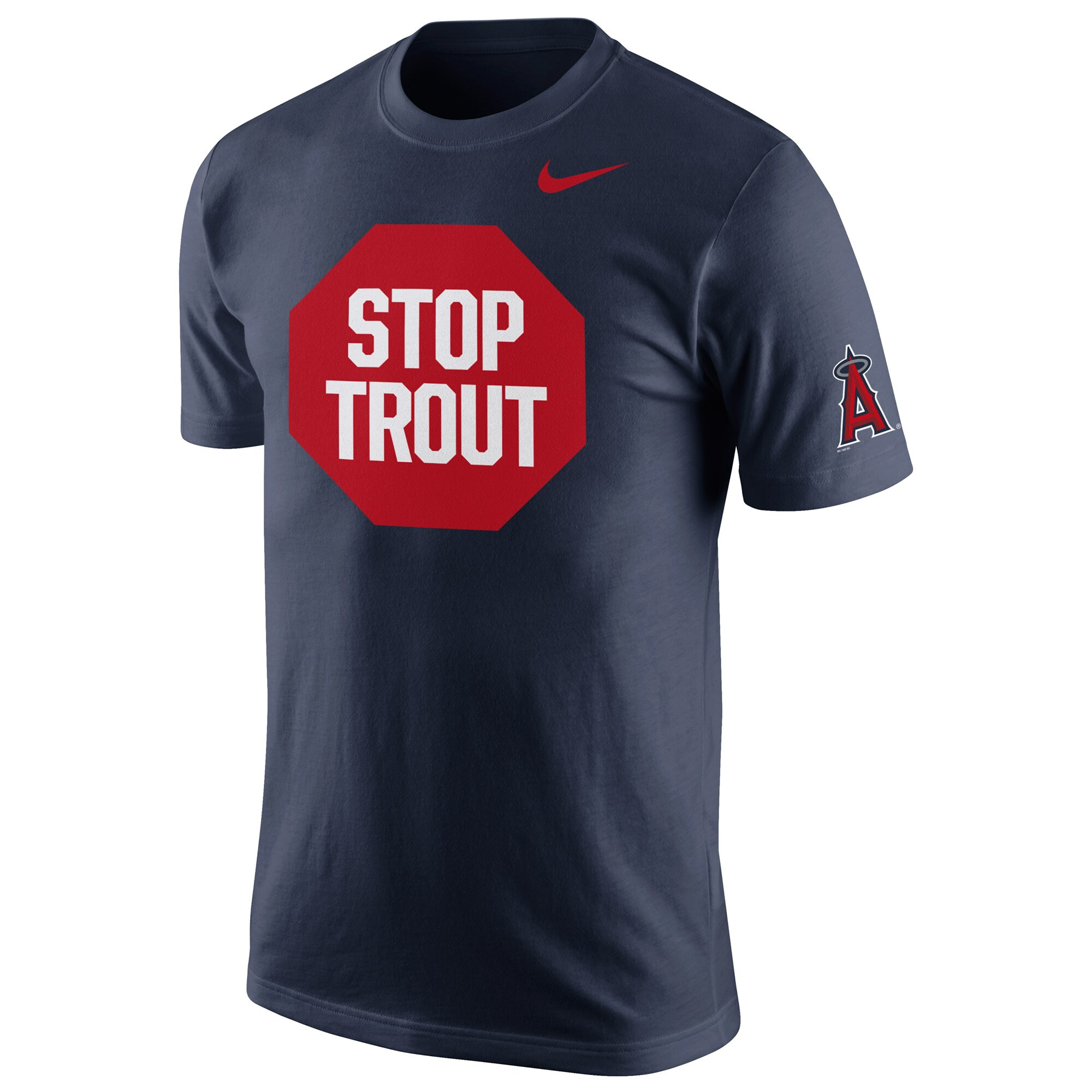 Los Angeles Angels Nike Stop Trout T-Shirt - Navy