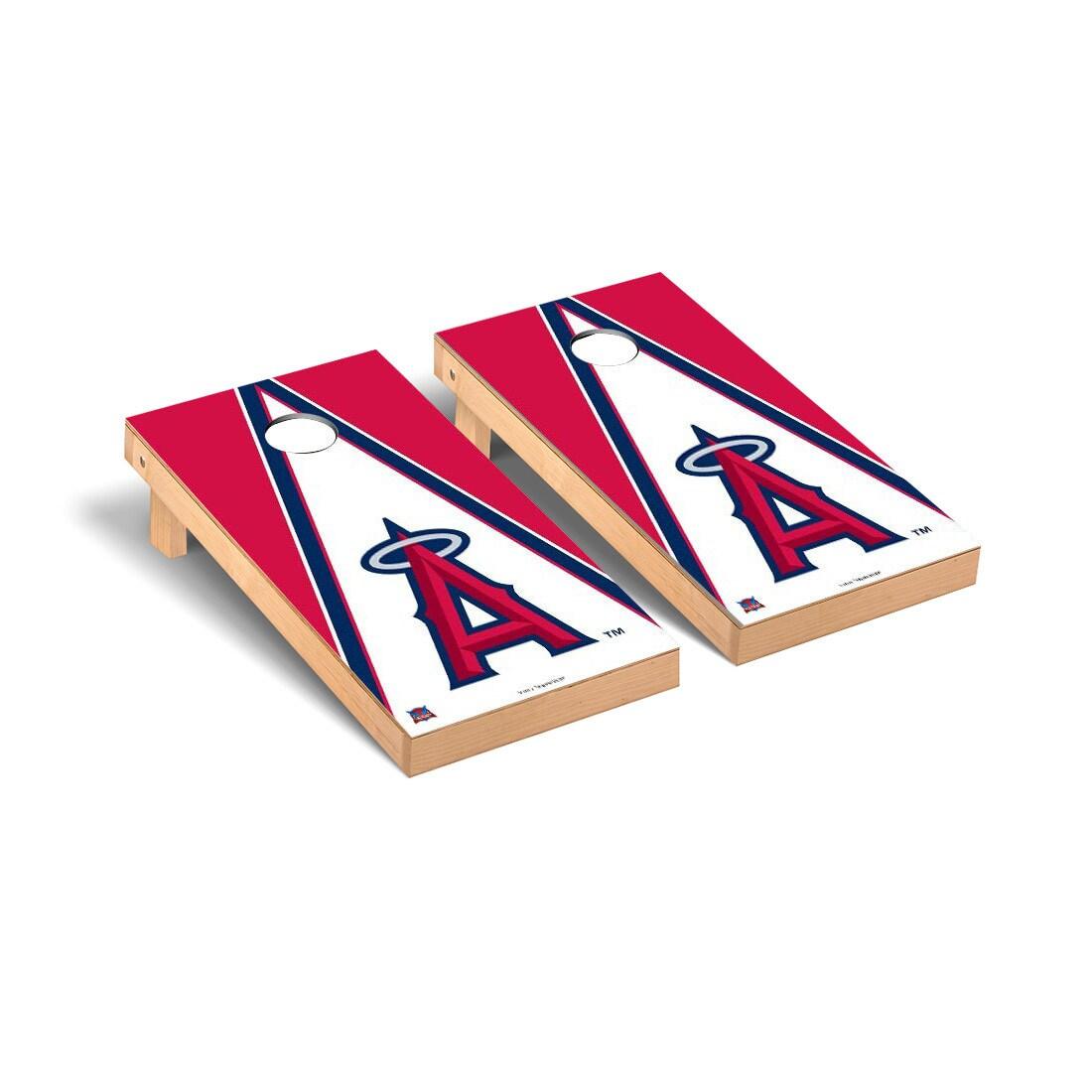 Los Angeles Angels 2' x 4' Triangle Cornhole Board Tailgate Toss Set